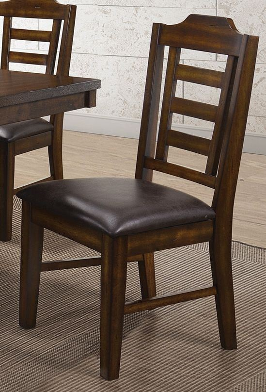 Bathurst Dark Ash Wood Dining Chair Set Of 2 From Coaster Coleman Furniture