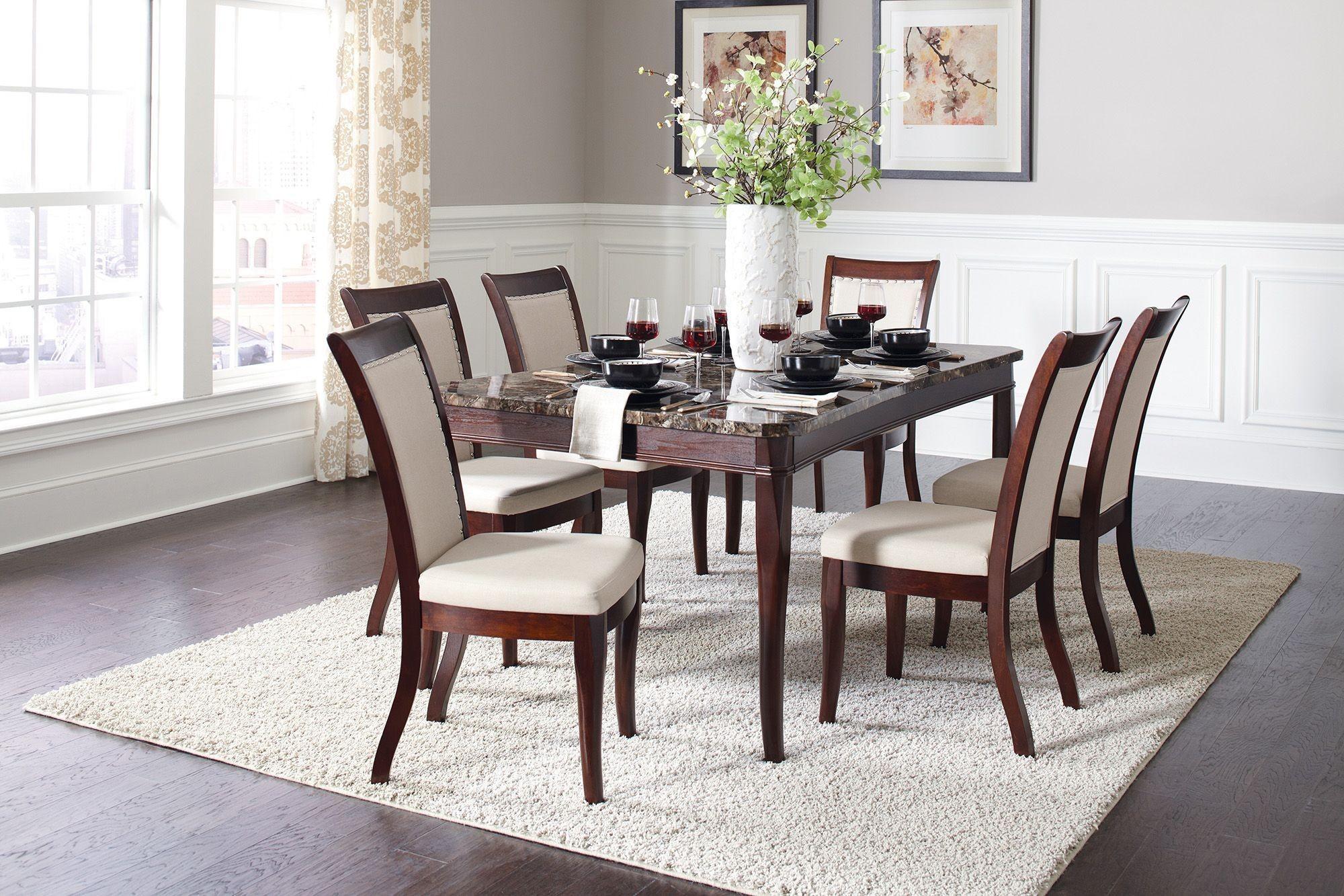Cornett Dark Brown Dining Room Set from Coaster | Coleman Furniture