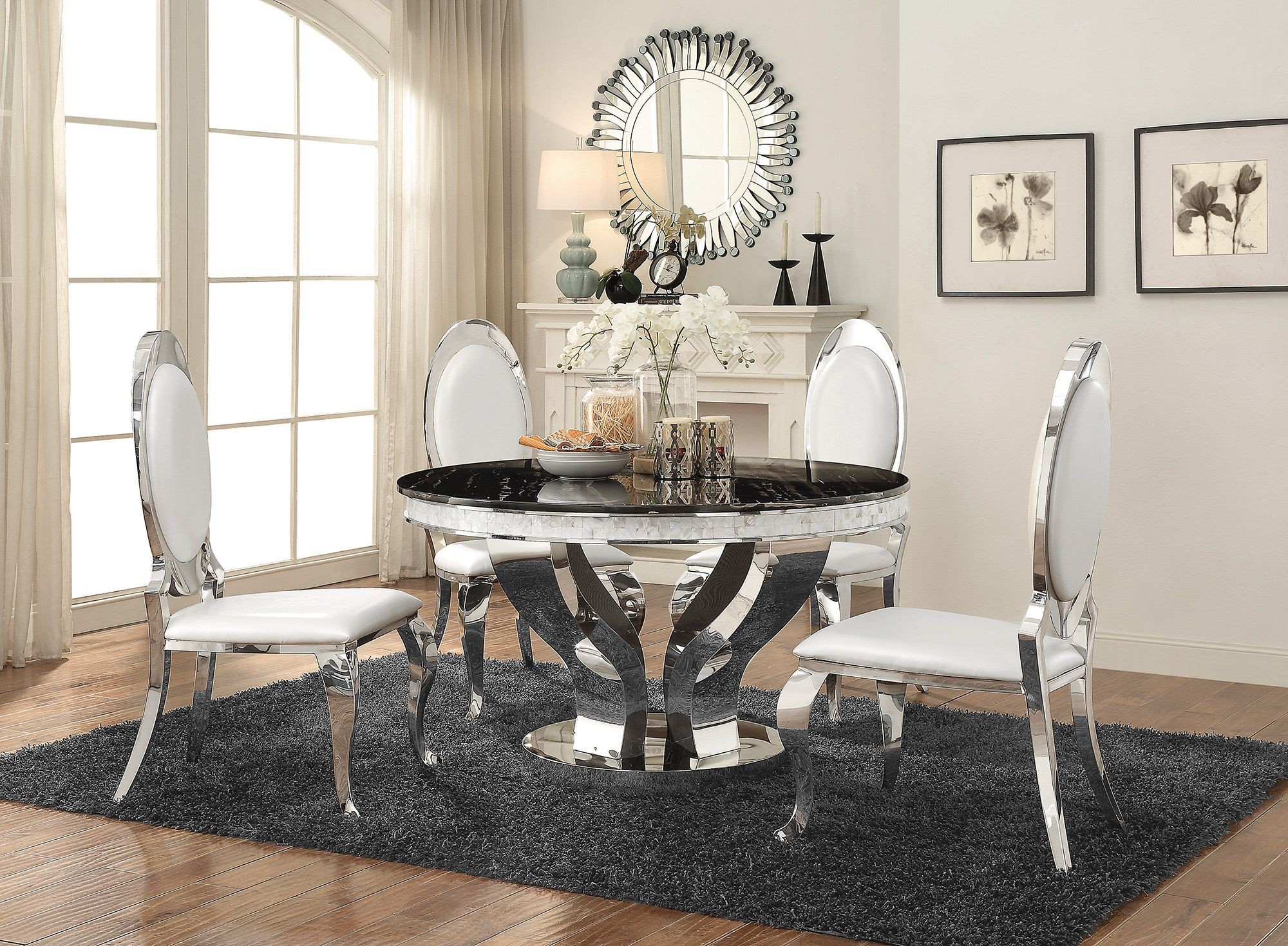 Anchorage Chrome Dining Room Set from