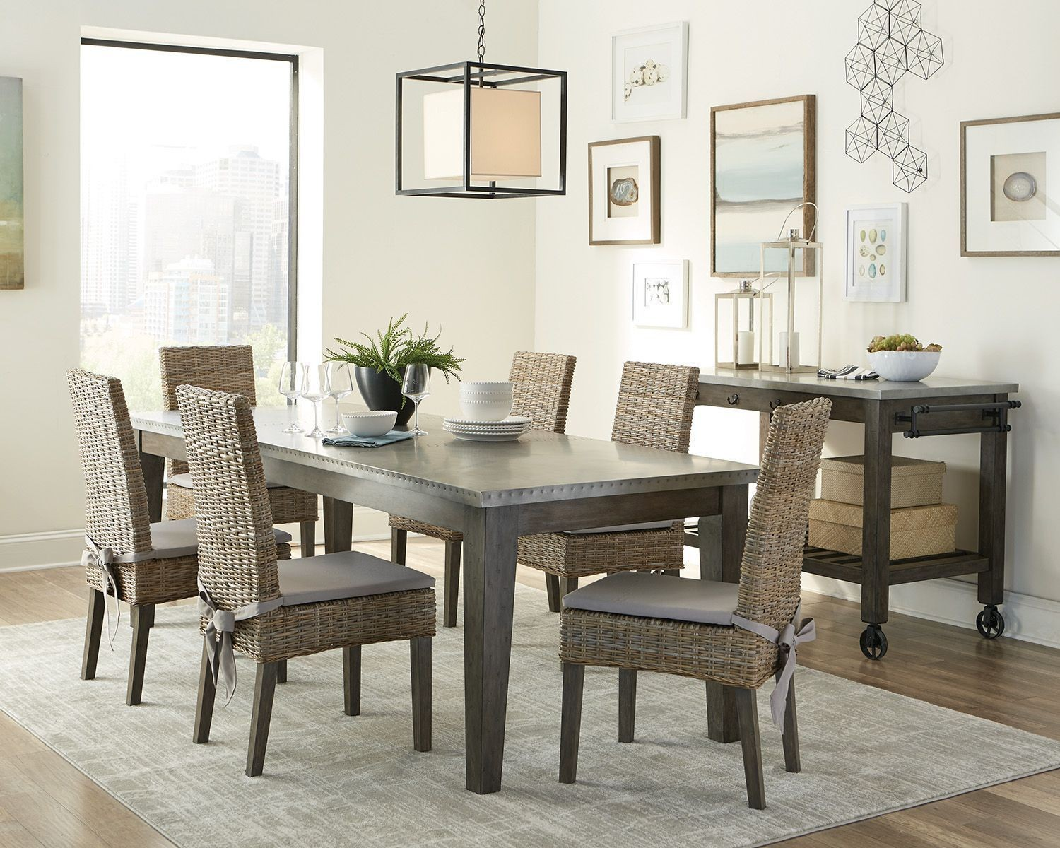 Davenport Aged Patina Dining Room Set By Scott Living From Coaster Coleman Furniture