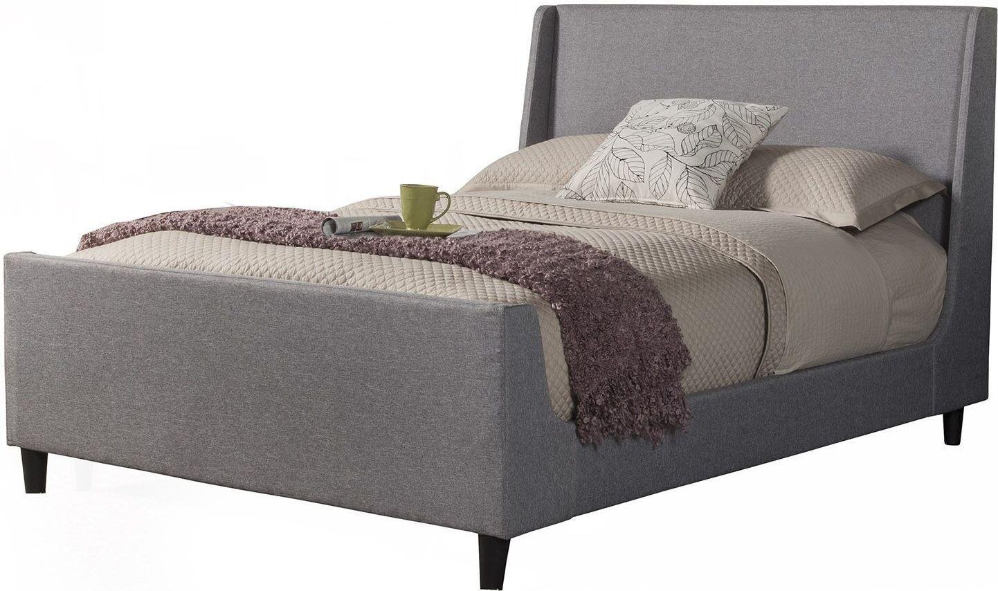 Amber Linen Upholstered Cal King Platform Bed From Alpine