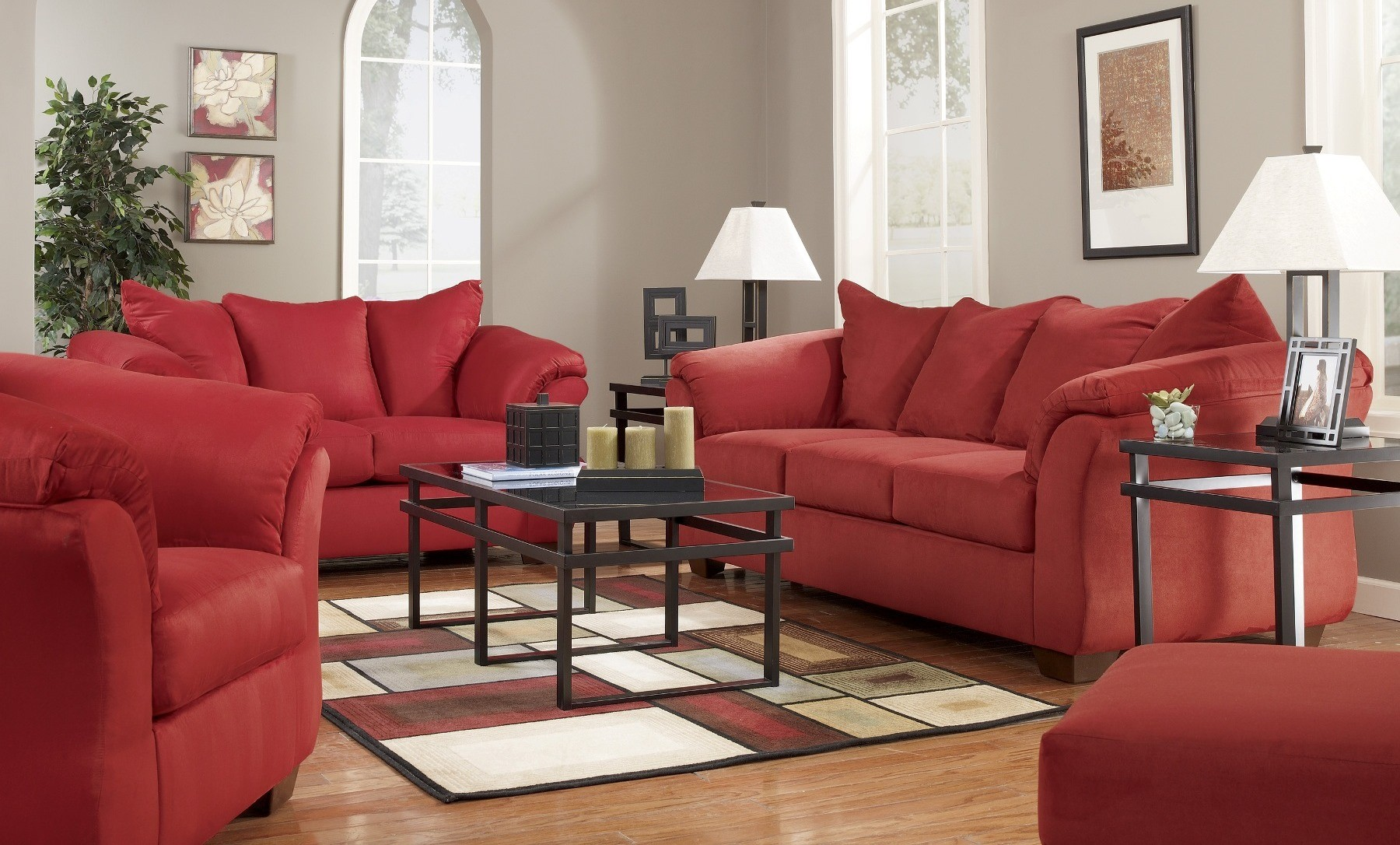 Darcy salsa living room set from ashley 75001 coleman for Front room sets