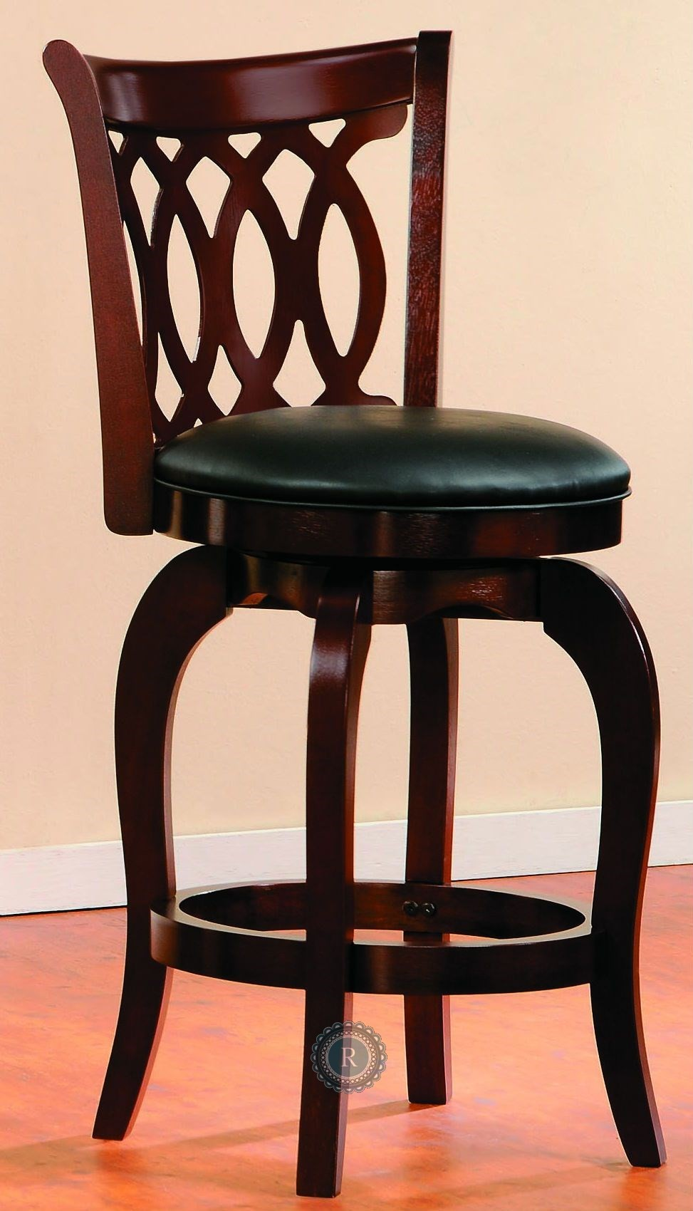 Shapel Cherry Swivel Counter Height Chair Set Of 2 From