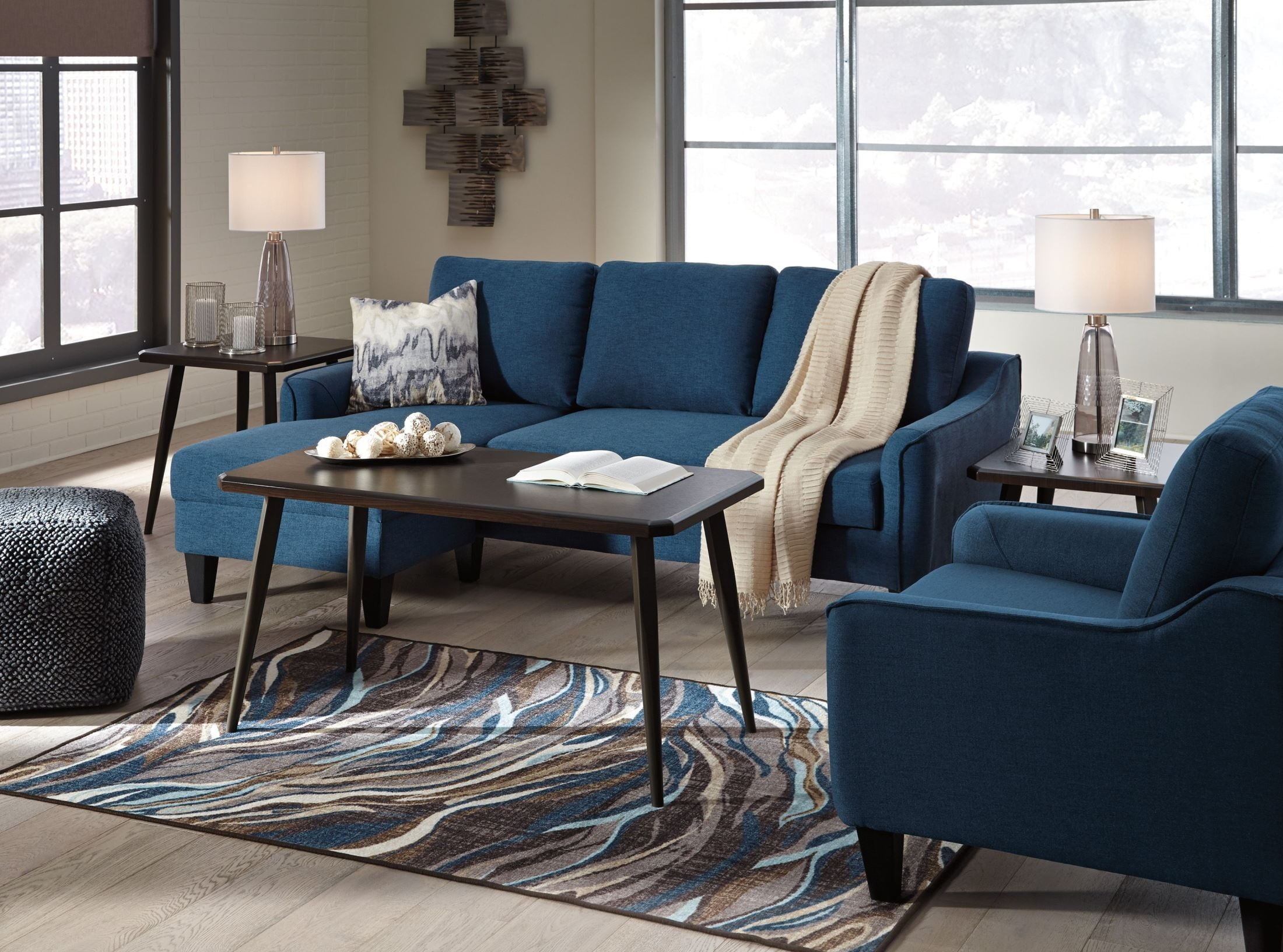 Jarreau Blue Living Room Set from Ashley