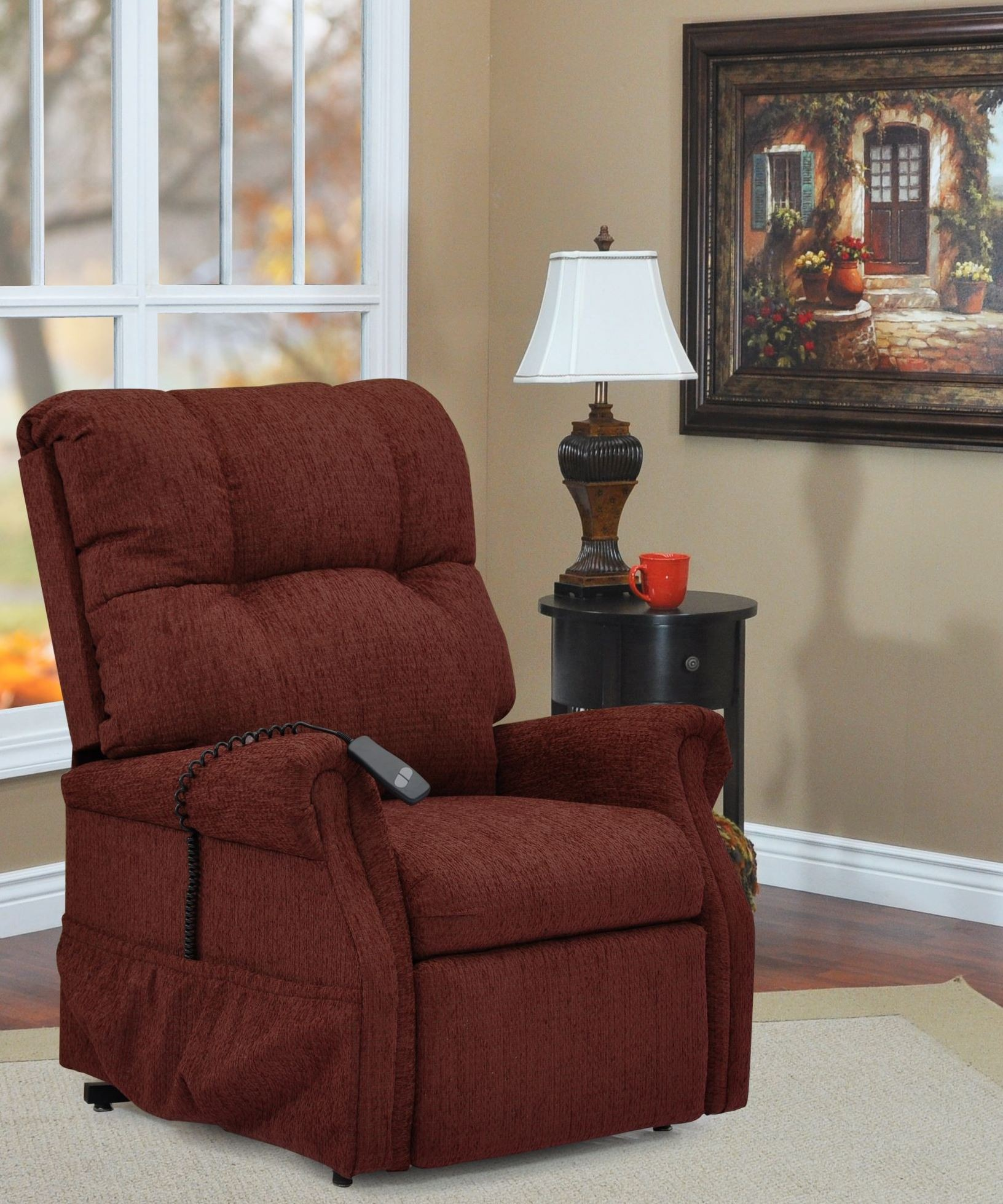 Dawson Maroon Three Way Reclining Lift Chair From Med Lift Coleman Furniture