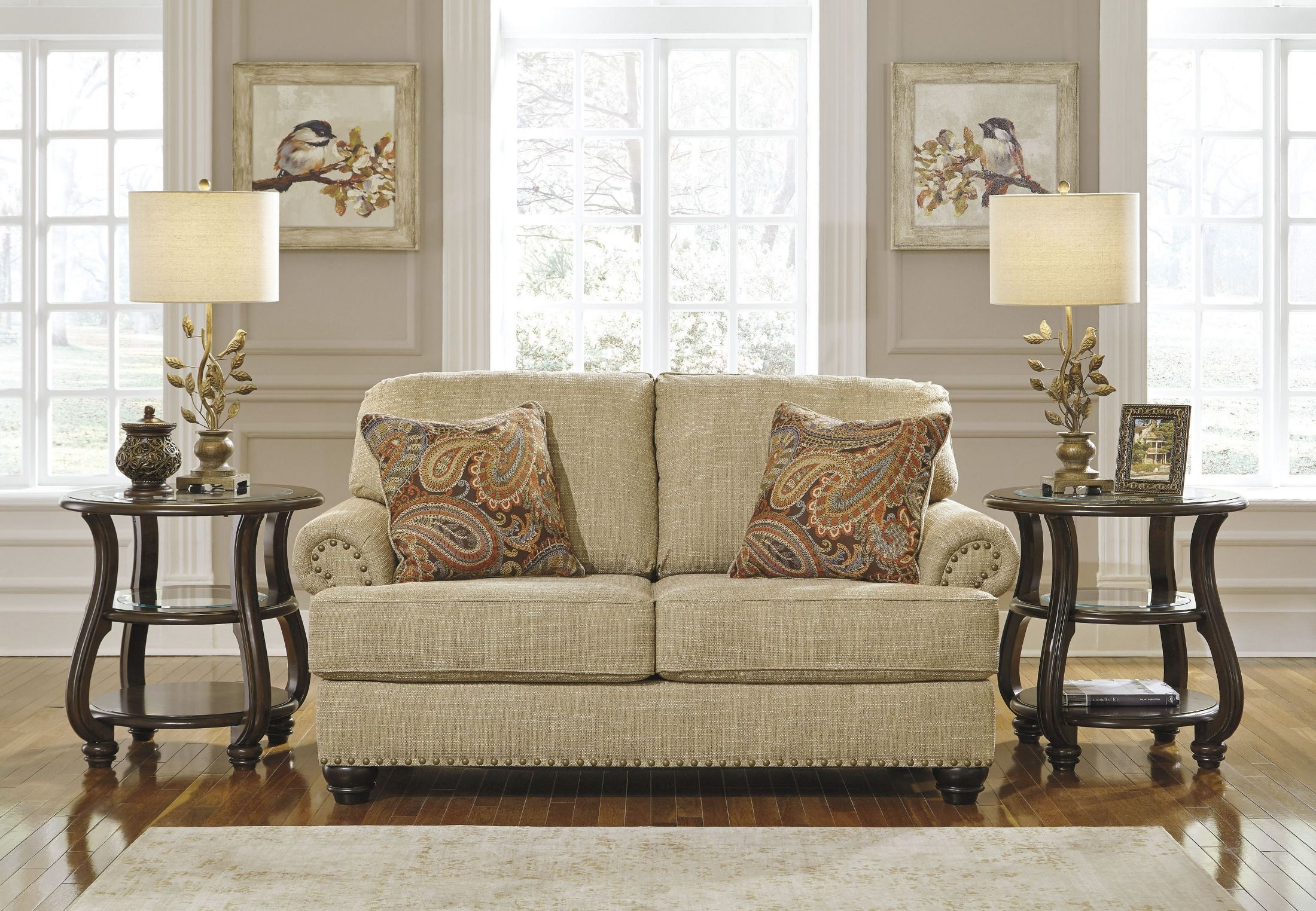 buy chair candoro oatmeal loveseat from coleman furniture 11806 | 11806 35 set