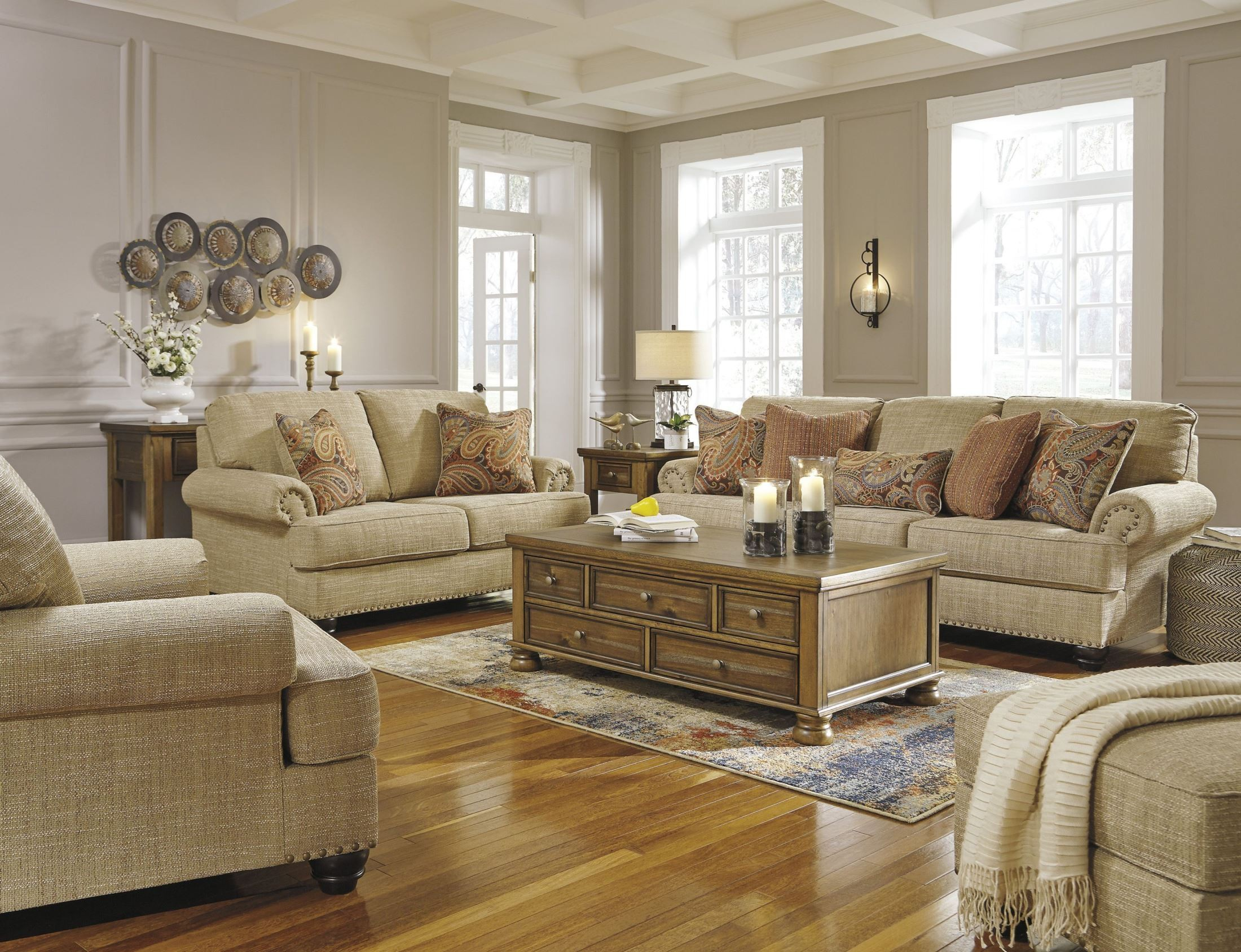 Candoro Oatmeal Living Room Set From Ashley Coleman