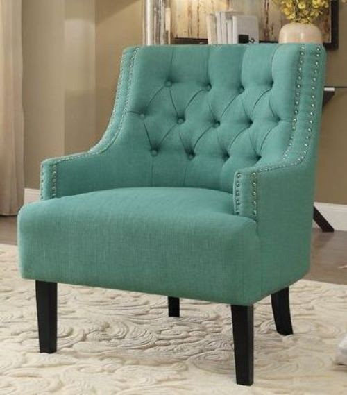 Charisma Teal Accent Chair From Homelegance Coleman