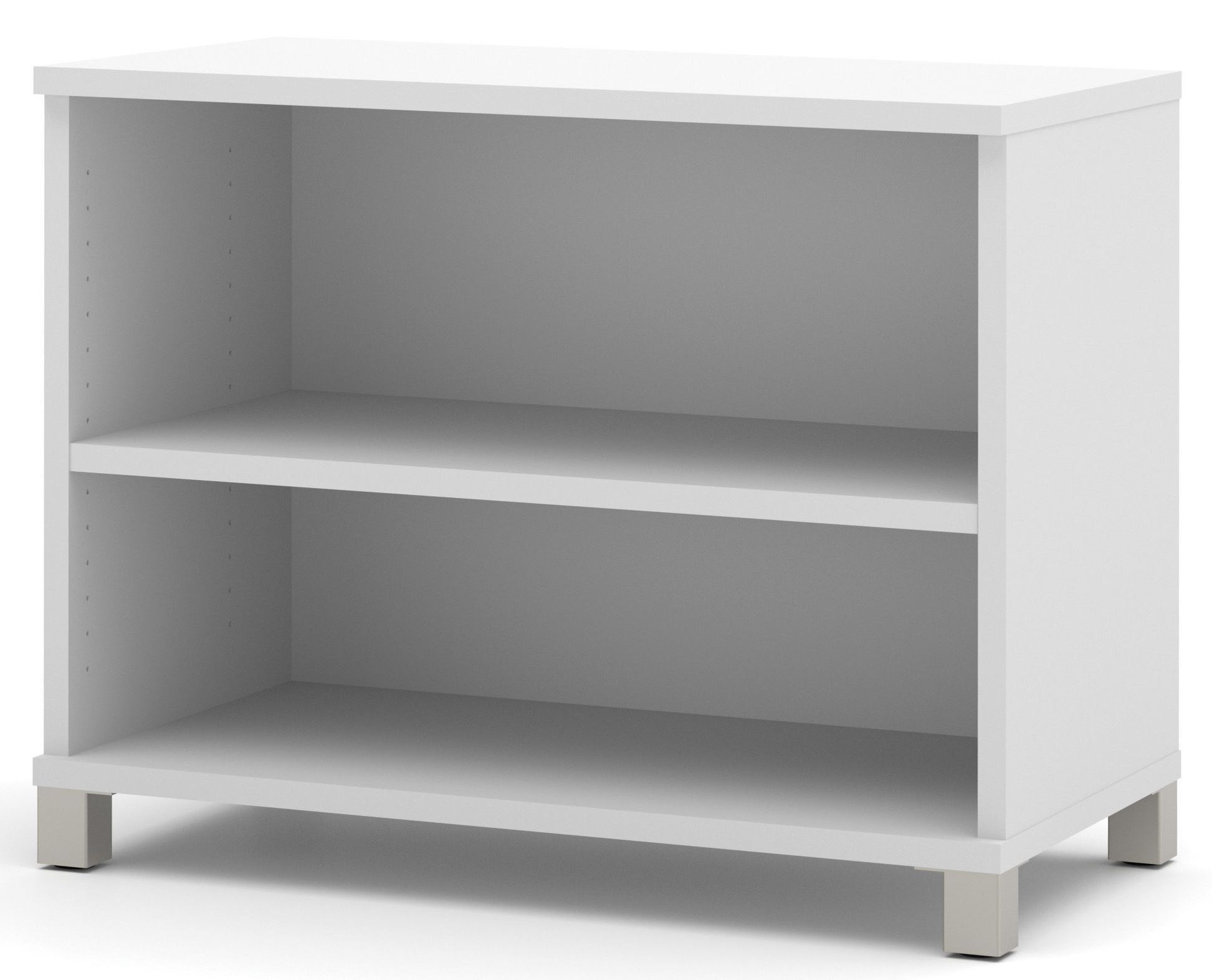 pro linea white 2 shelf bookcase from bestar 120160 1117. Black Bedroom Furniture Sets. Home Design Ideas
