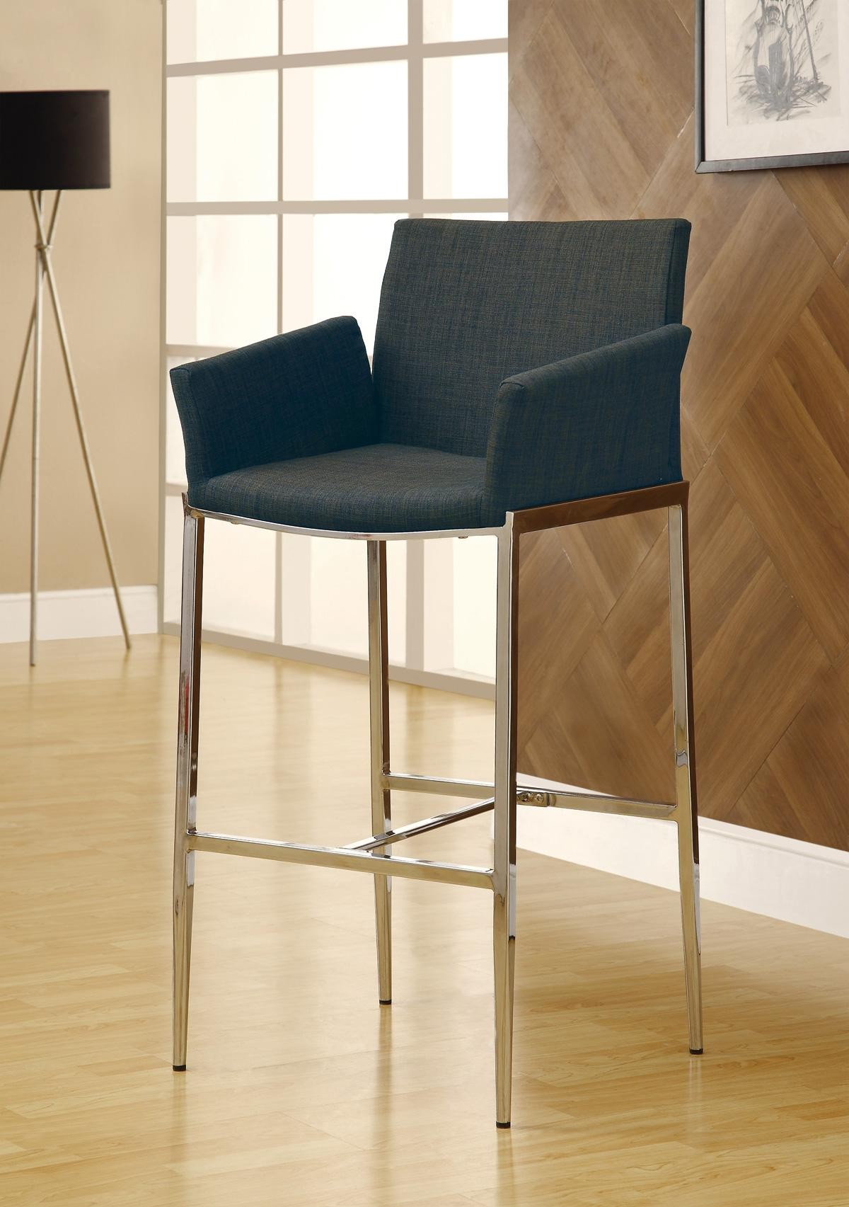Grey Bar Stool 120727 Set Of 2 From Coaster 120727