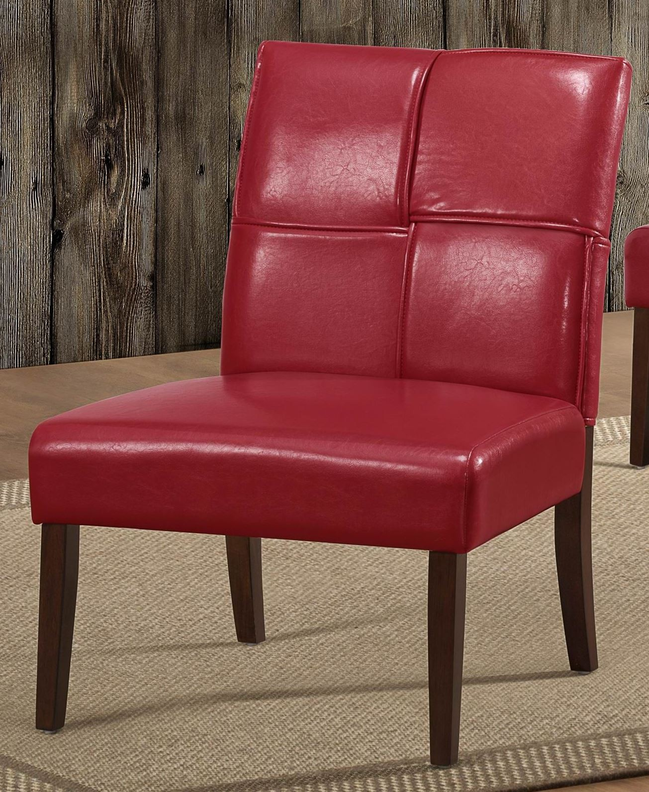 Red Accent Chair Islated: Oriana Red Accent Chair From Homelegance (1215RDS