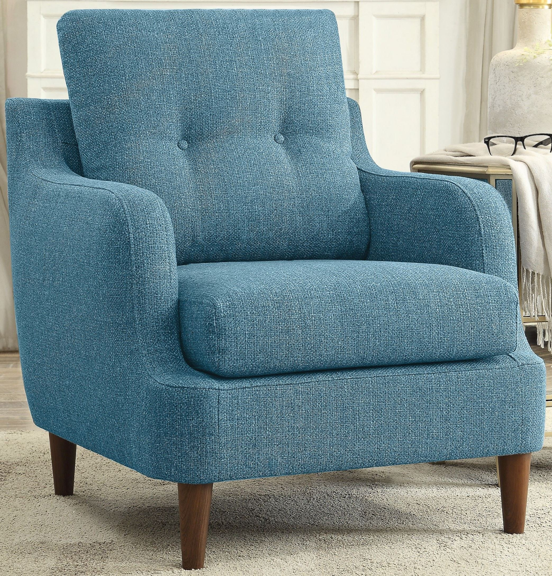 Cagle blue accent chair
