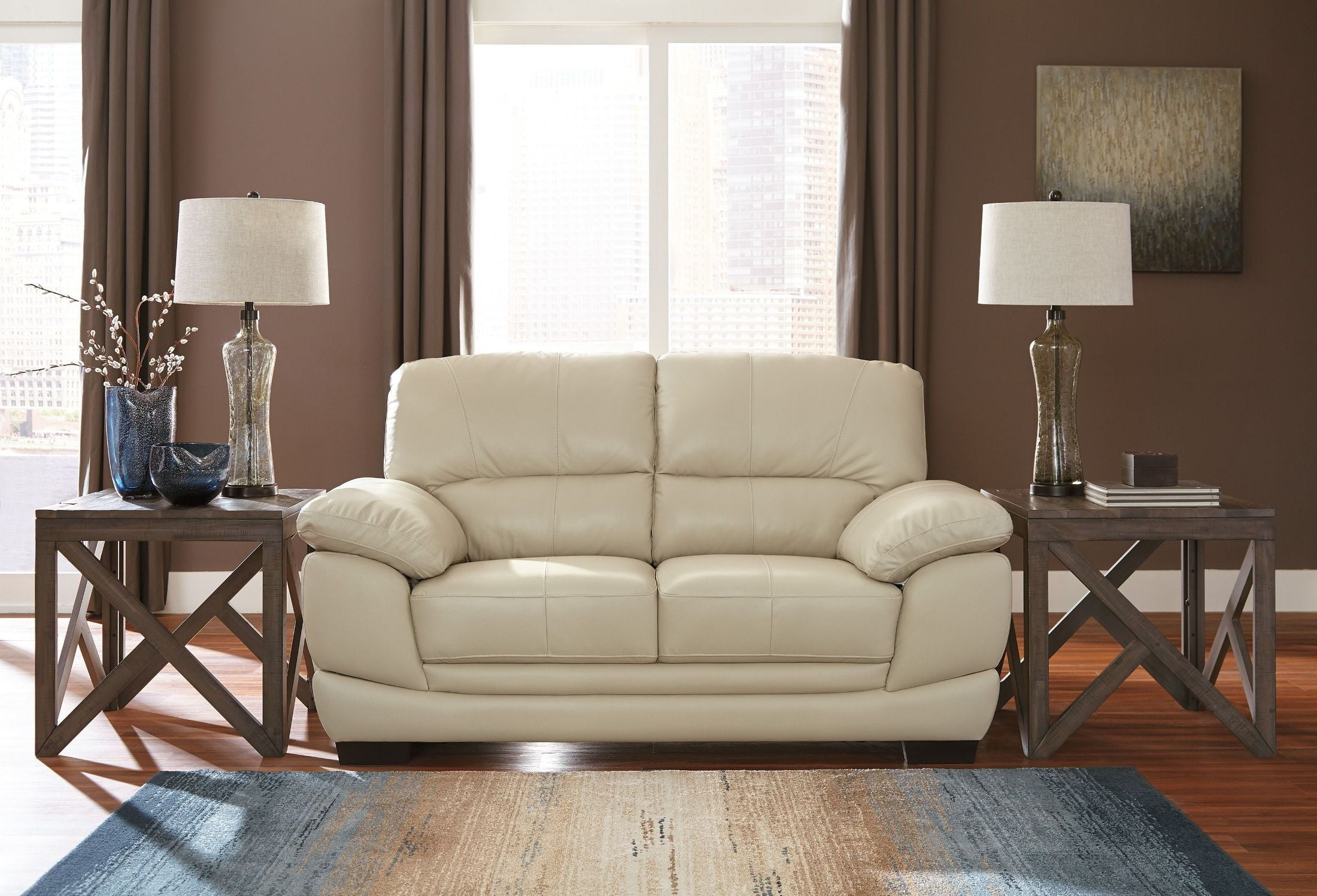 Fontenot Cream Living Room Set from Ashley | Coleman Furniture