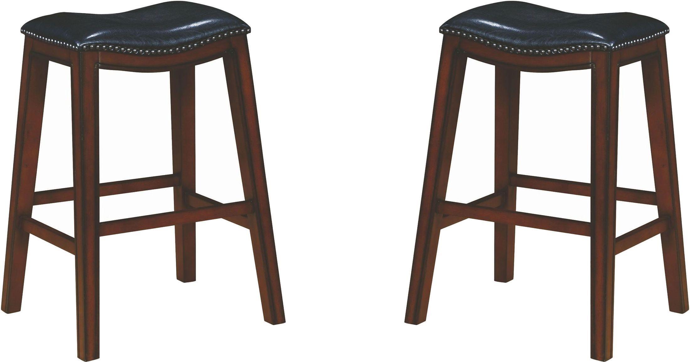 Rec Room Black Upholstered Bar Stool Set of 2 from Coaster | Coleman ...