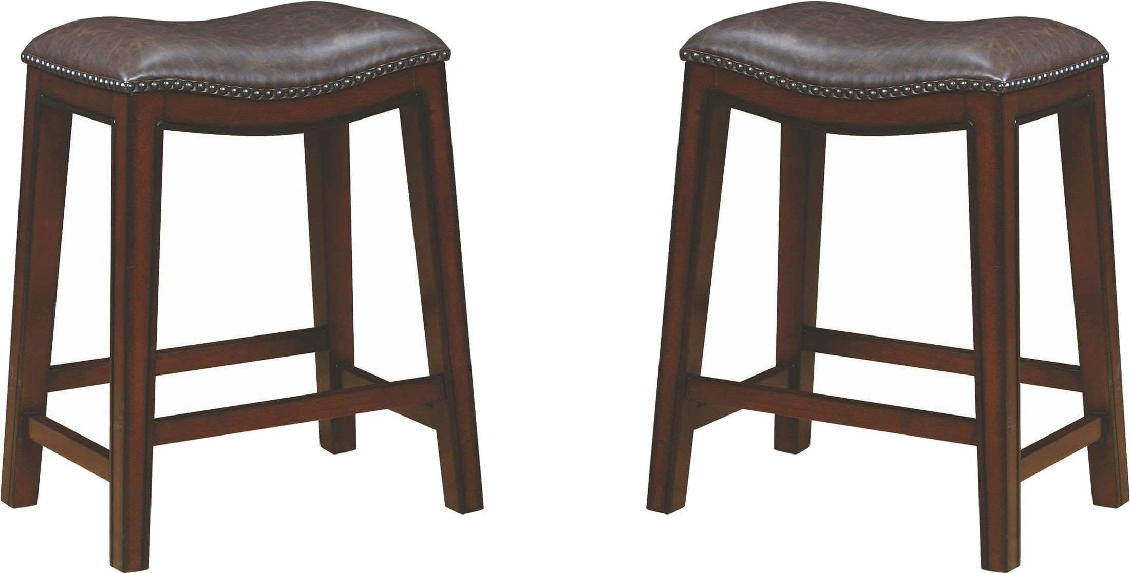 Rec Room Two Tone Upholstered Counter Height Stool Set Of
