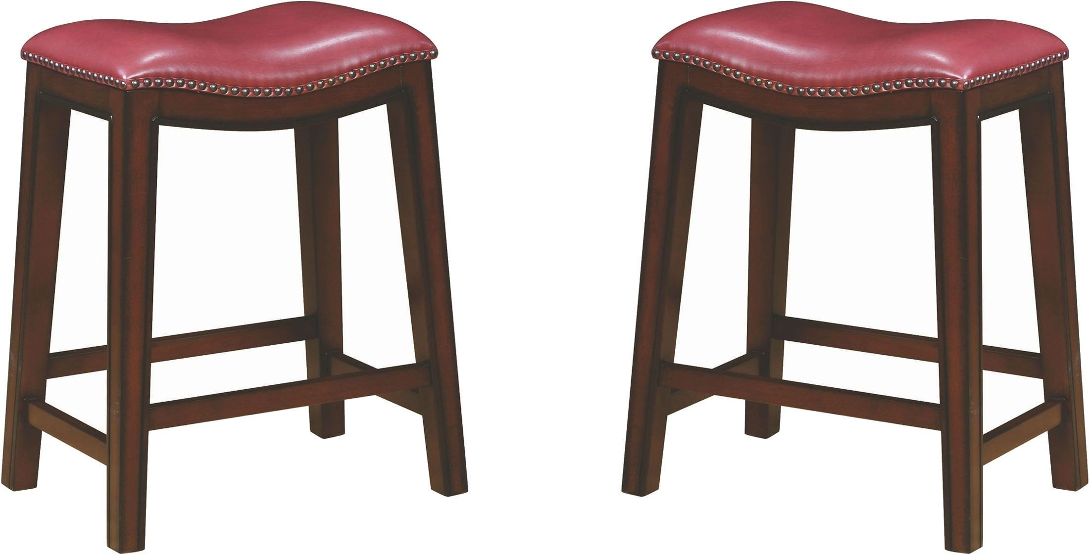 Rec Room Crimson Upholstered Counter Height Stool Set Of 2