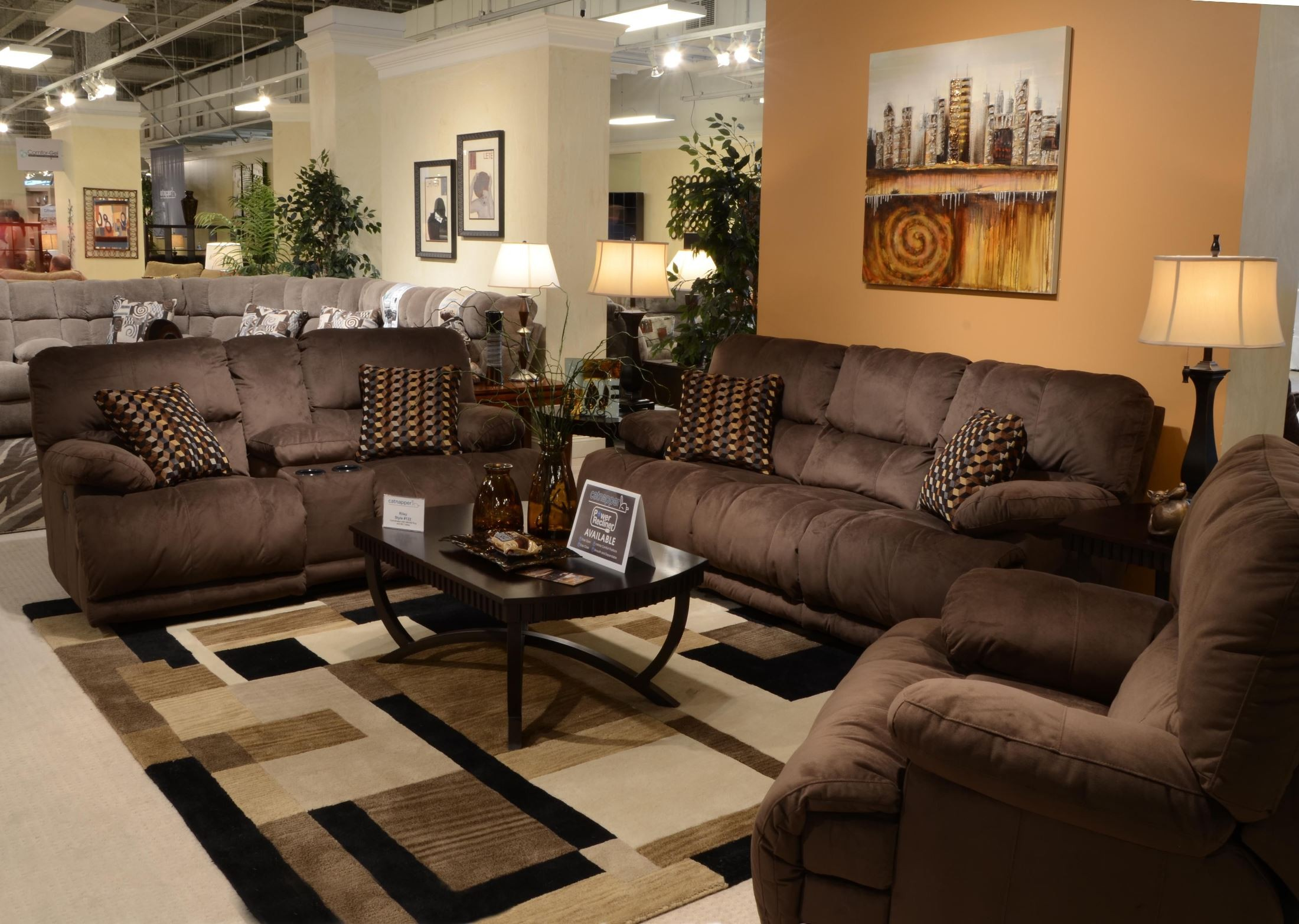 Riley coffee reclining living room set from catnapper for Cheap reclining living room sets