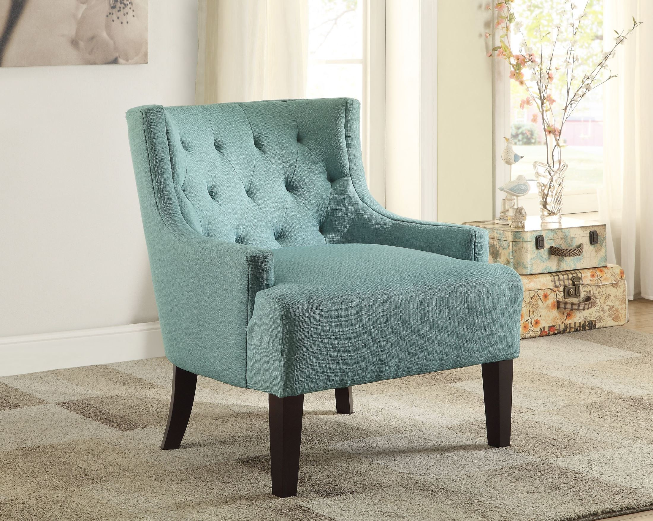 Dulce Teal Accent Chair From Homelegance 1233tl