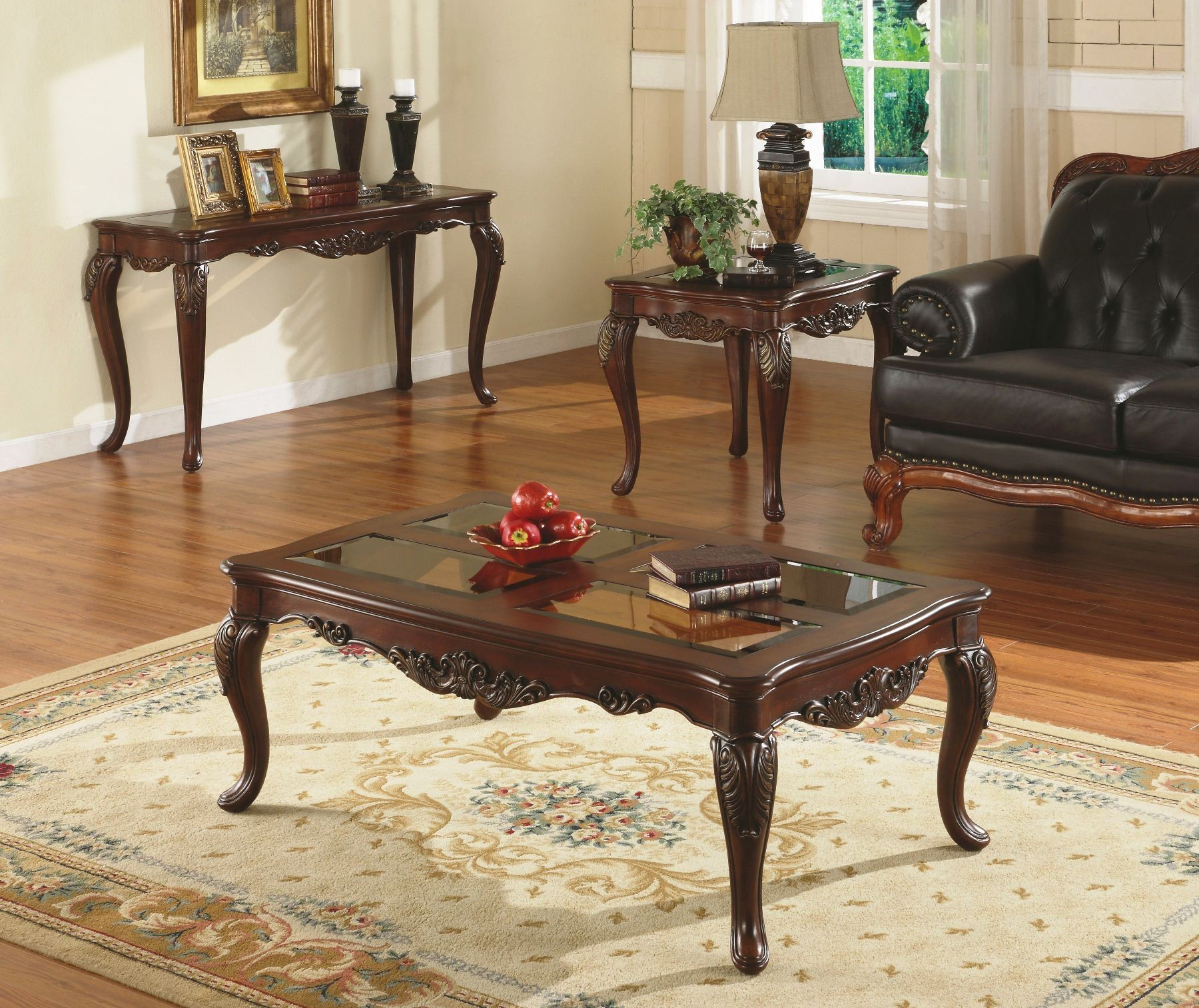 Wood St Martin Coffee Table: Ella Martin Occasional Table Set From Homelegance (1288