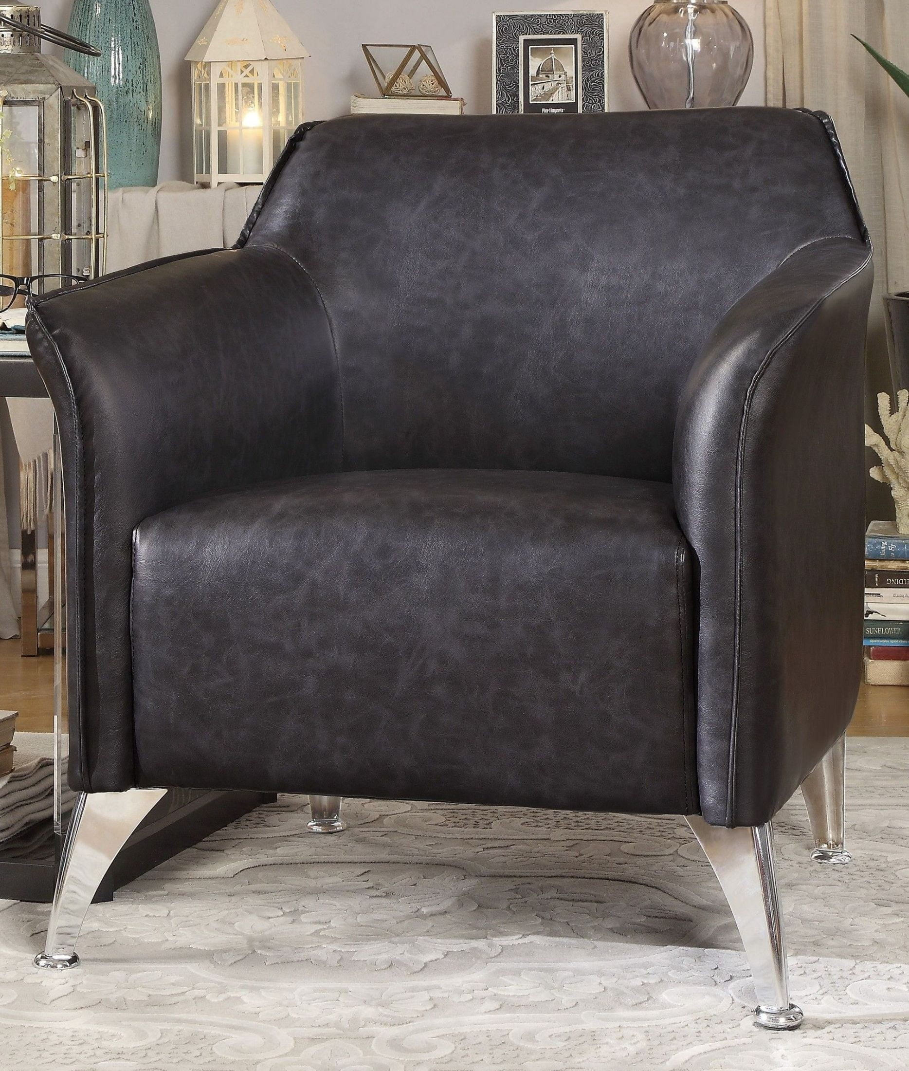 Contemporary Grey Accent Chair Property
