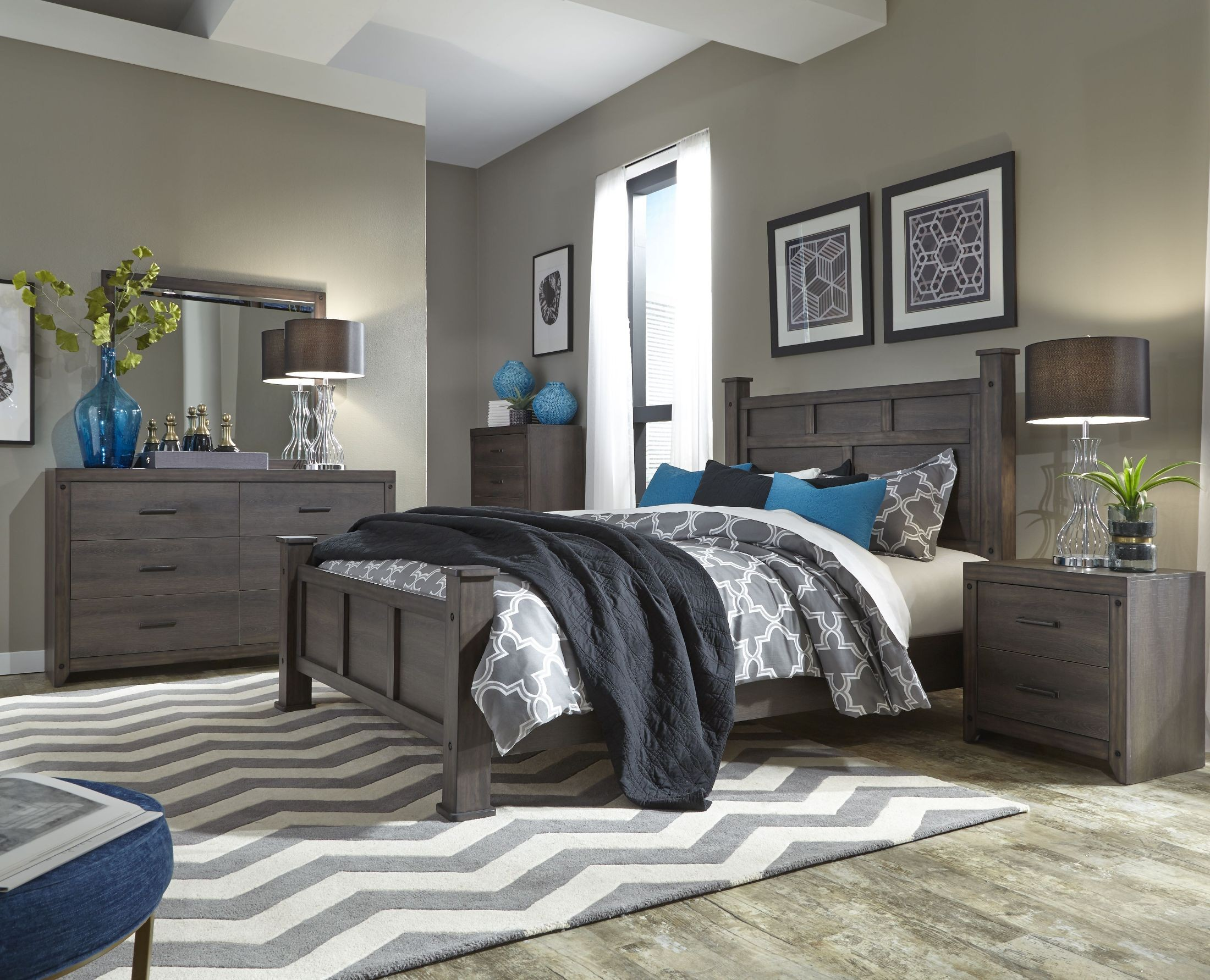 Desert Hill Gray Brick Poster Bedroom Set From Liberty