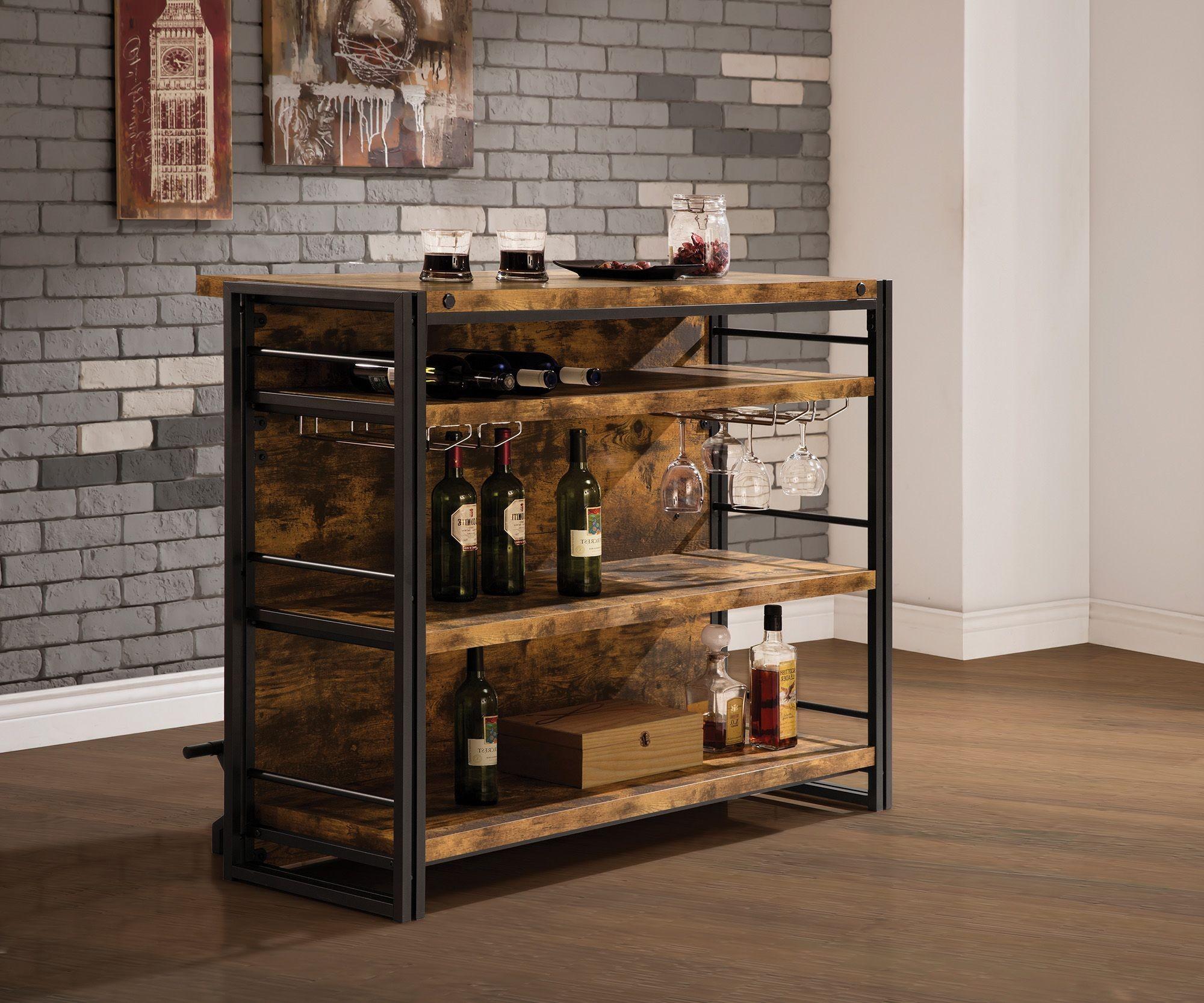 Antique Nutmeg Bar Unit Coaster Furniture 2395097