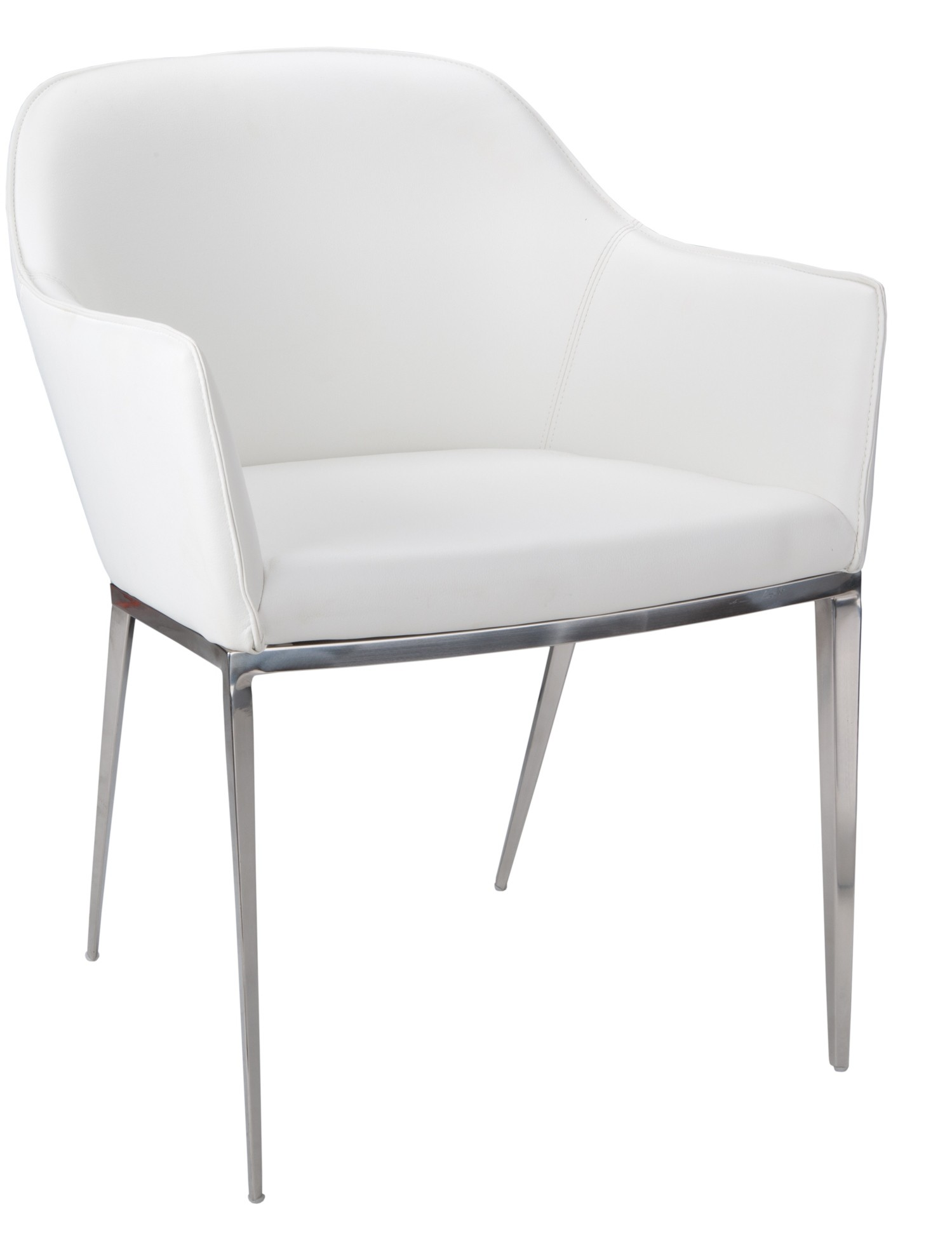Stanis White Armchair from Sunpan (13026) | Coleman Furniture