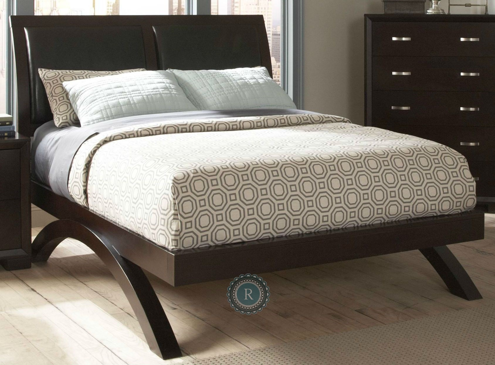 Astrid Espresso Queen Sleigh Bed From Homelegance 1313 1