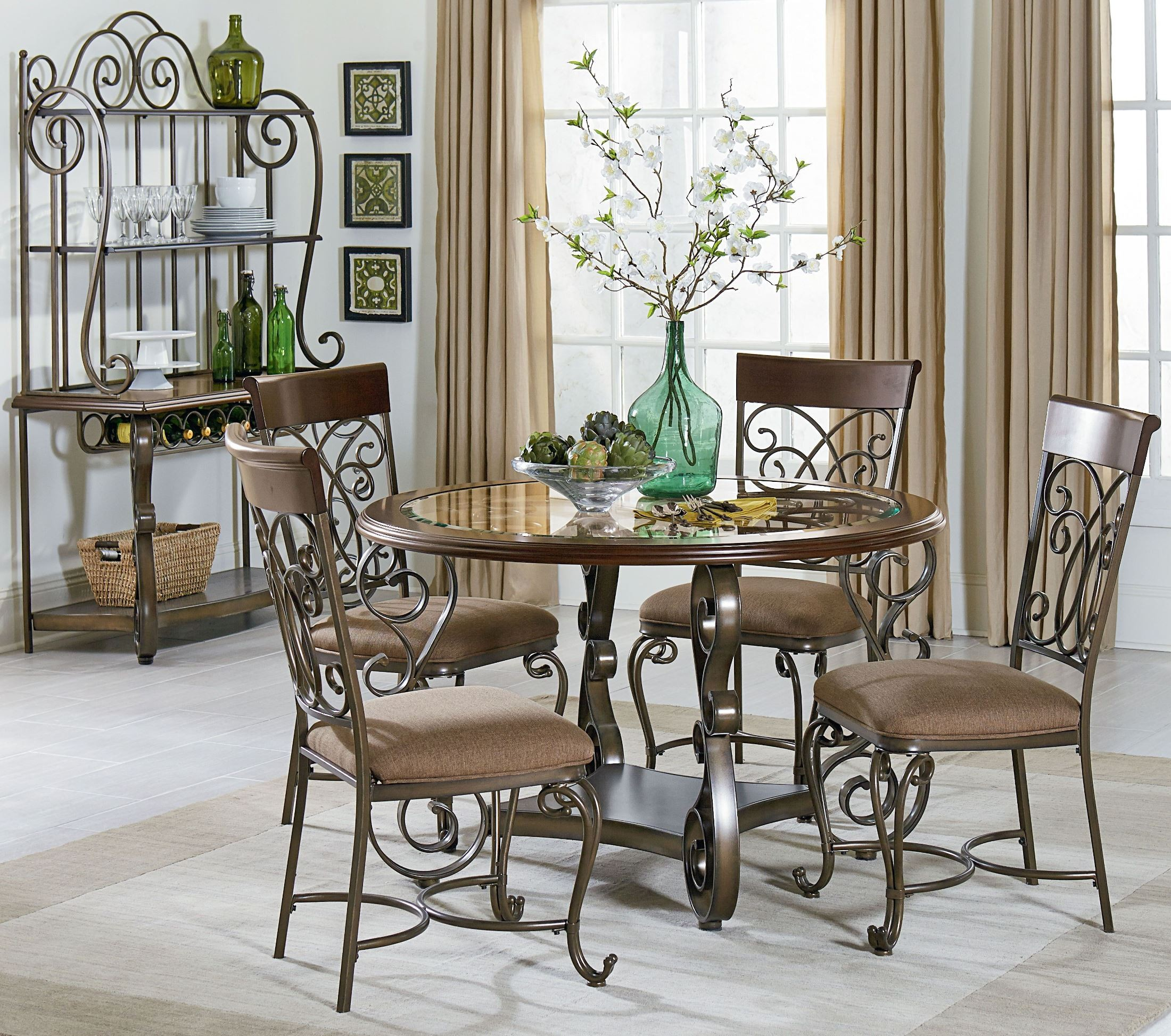 Cherry Dining Room Set: Bombay Dark Cherry Round Dining Room Set From Standard