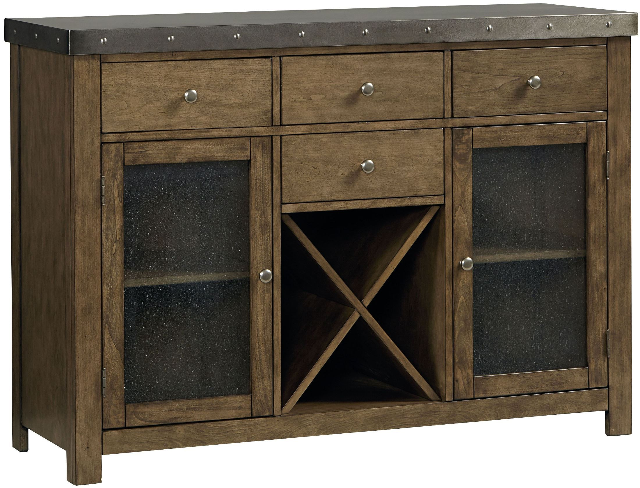 Riverton Seeded Glass Doors Server 13462 Standard Furniture
