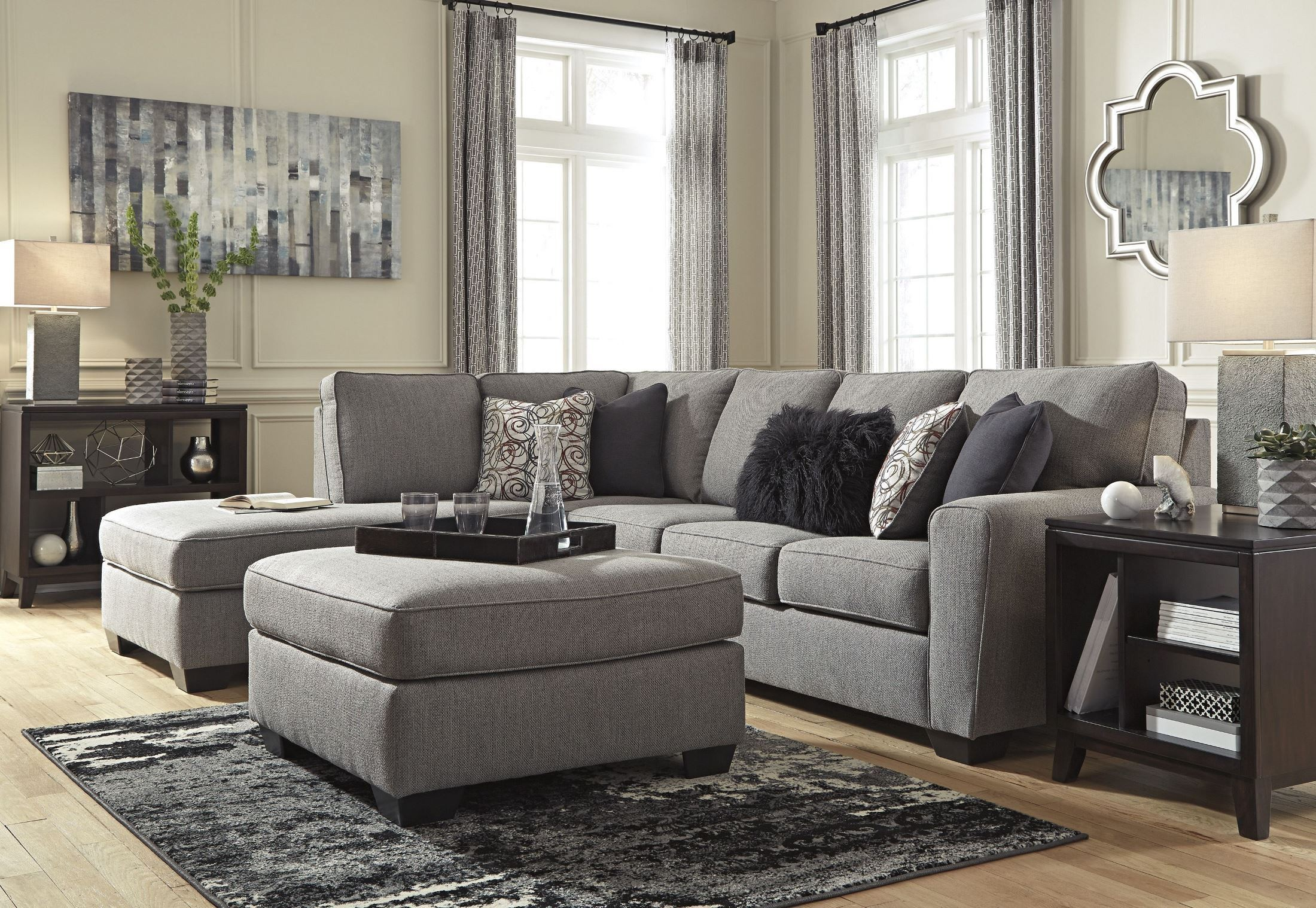 Larusi Iron Oversized Accent Ottoman From Ashley Coleman