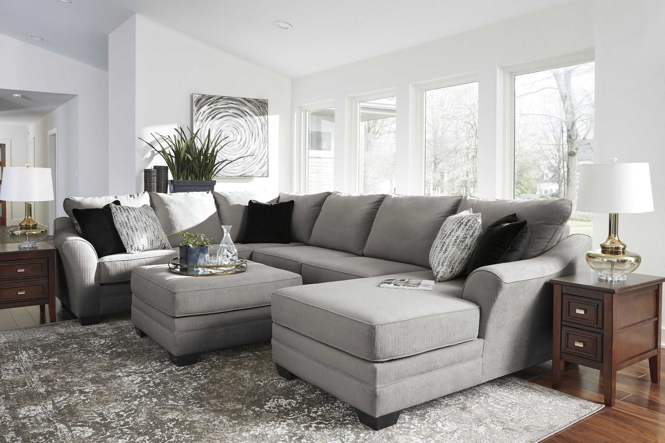 Palempor Pebble Oversized Accent Ottoman From Ashley