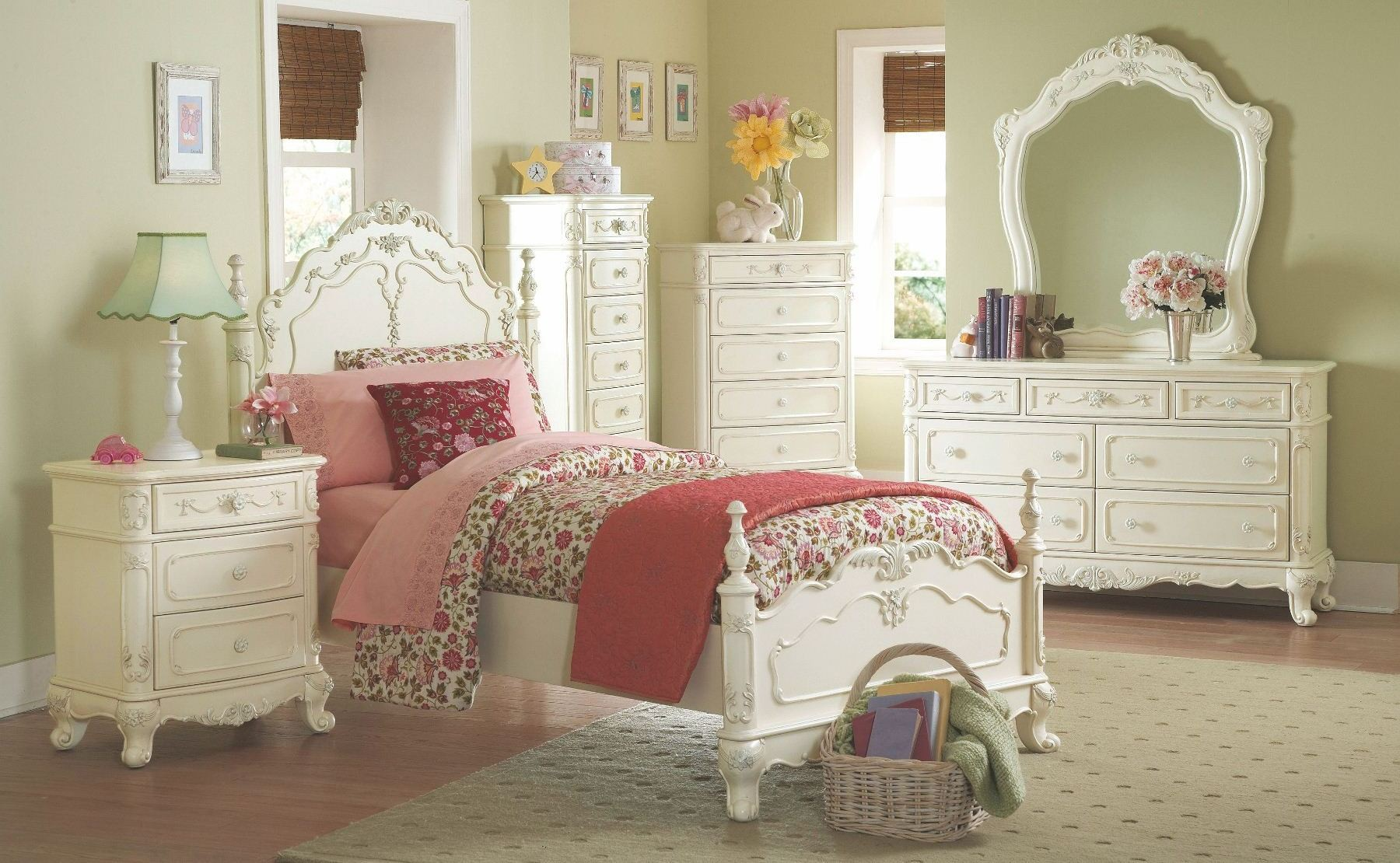 cinderella youth bedroom set from homelegance 1386 13894 | 1386t 1 6