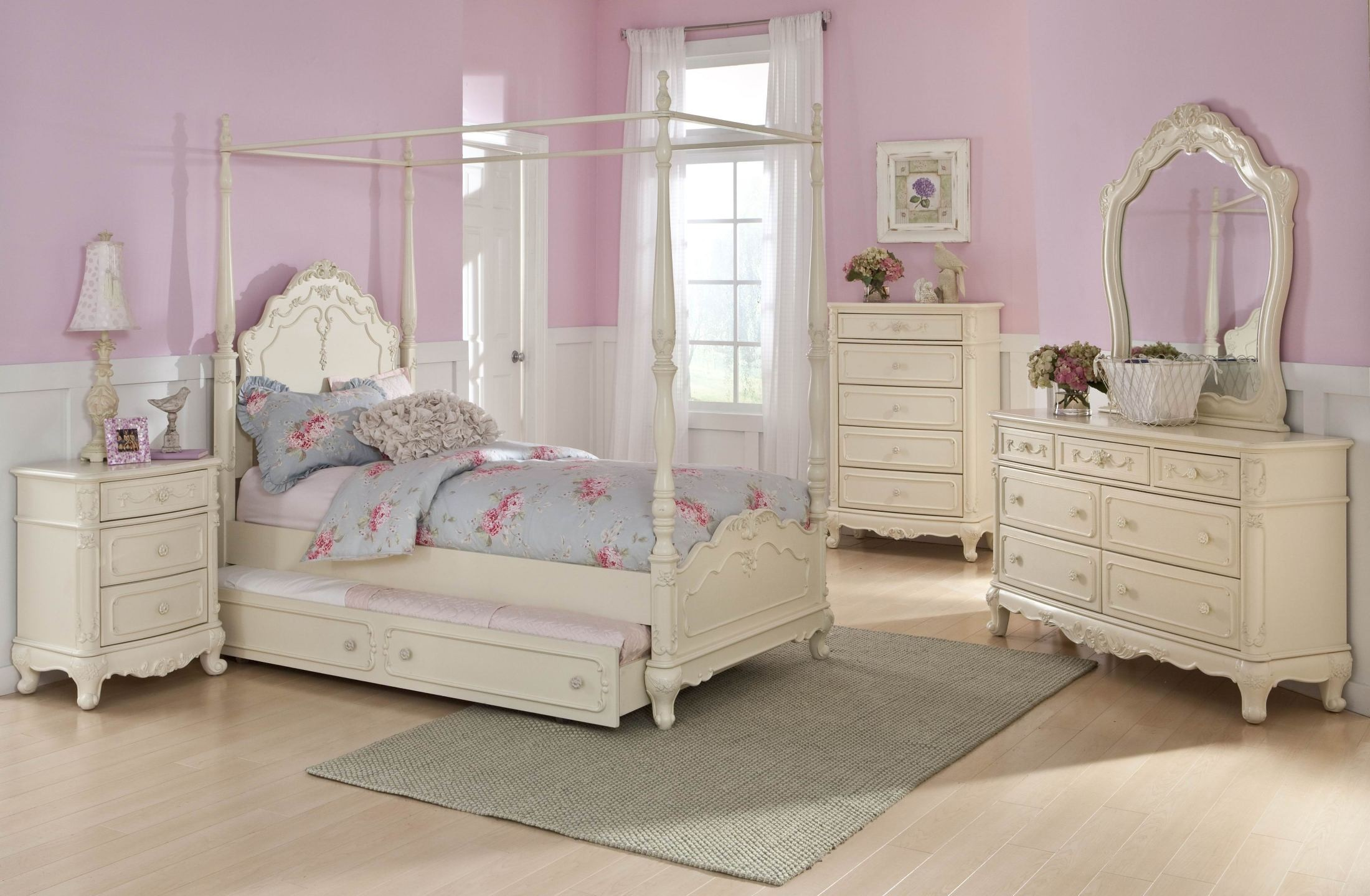 Attrayant Cinderella Youth Canopy Poster Bedroom Set From Homelegance (1386) |  Coleman Furniture