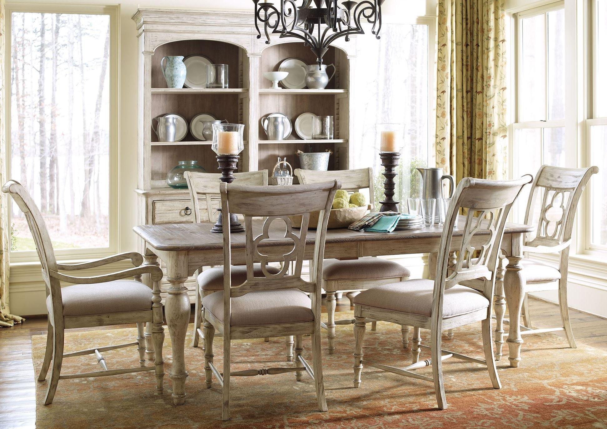 Attrayant Weatherford Cornsilk Canterbury Extendable Rectangular Dining Room Set From  Kincaid (75 054) | Coleman Furniture