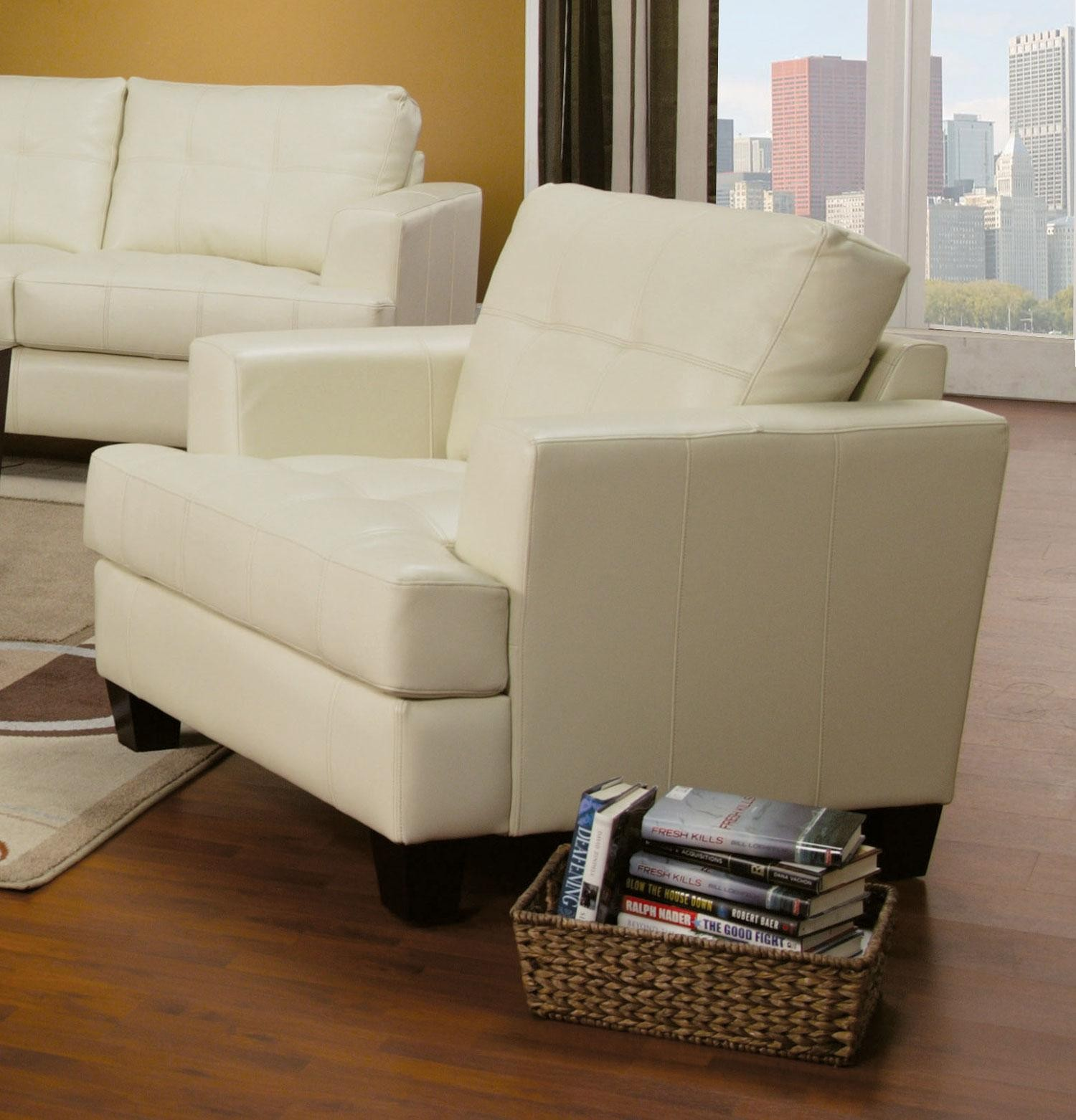 cream leather living room chairs samuel cream leather living room set 501691 from coaster 13608 | 13 1 1