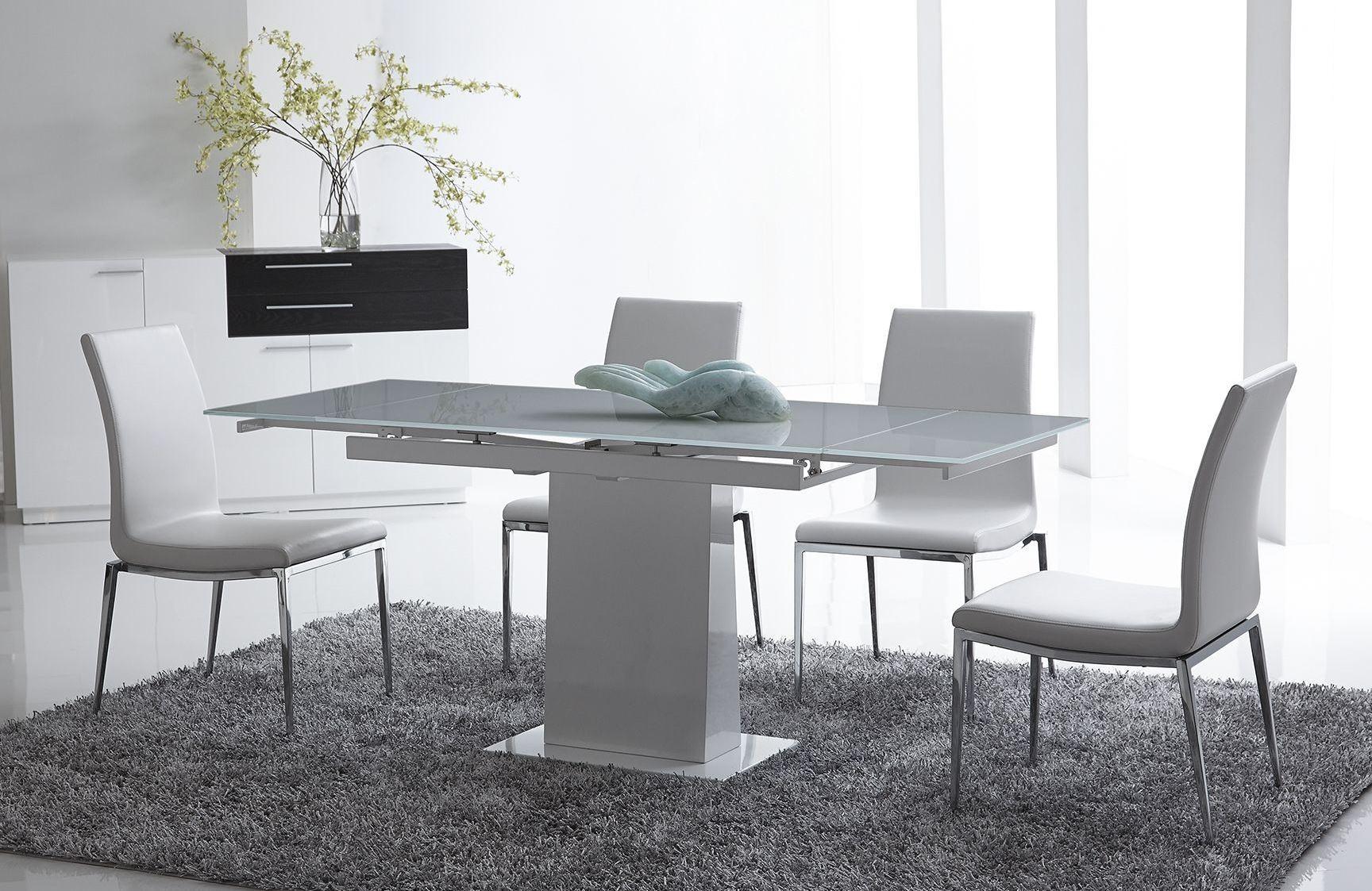 Bonn White Extendable Dining Table From Bellini Modern