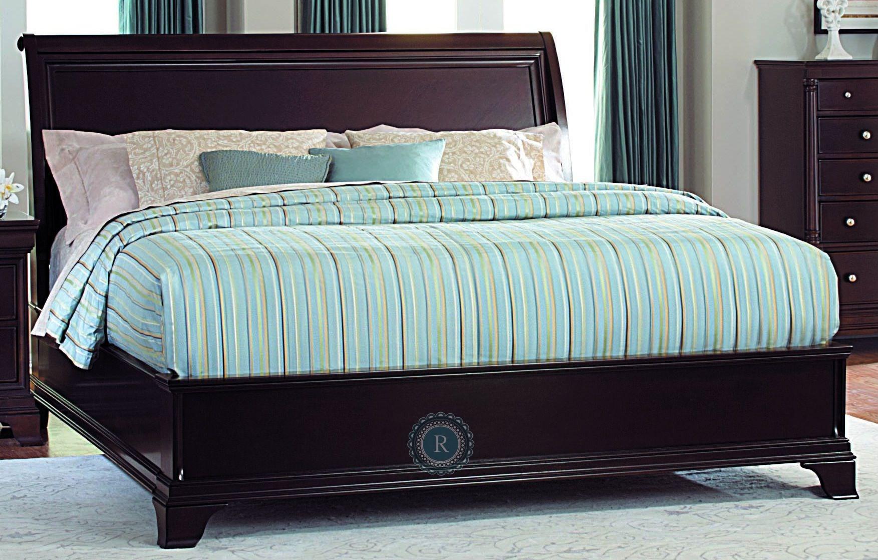 inglewood cal king sleigh bed from homelegance 1402lpk