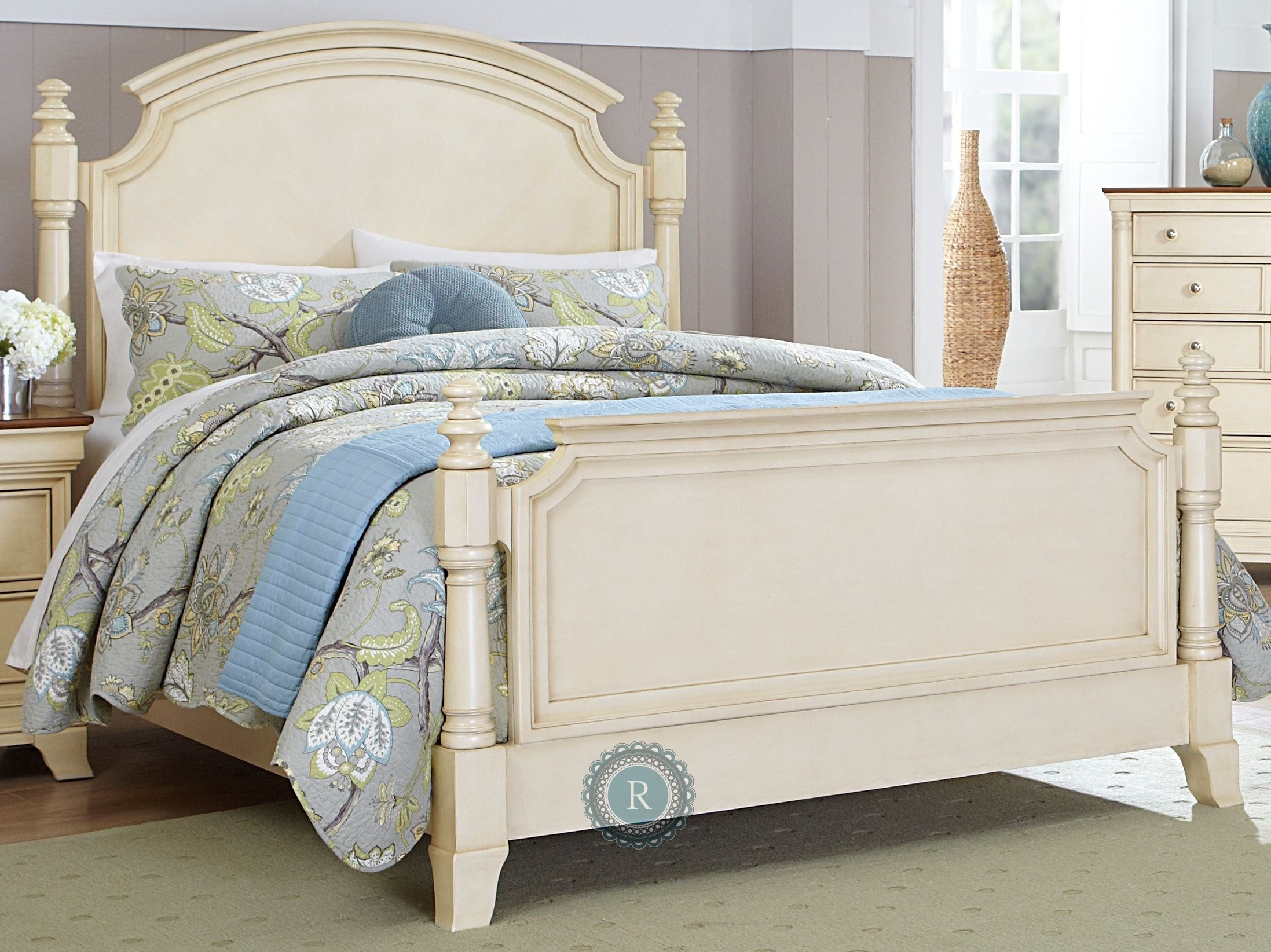 inglewood white king poster bed from homelegance 1402kw