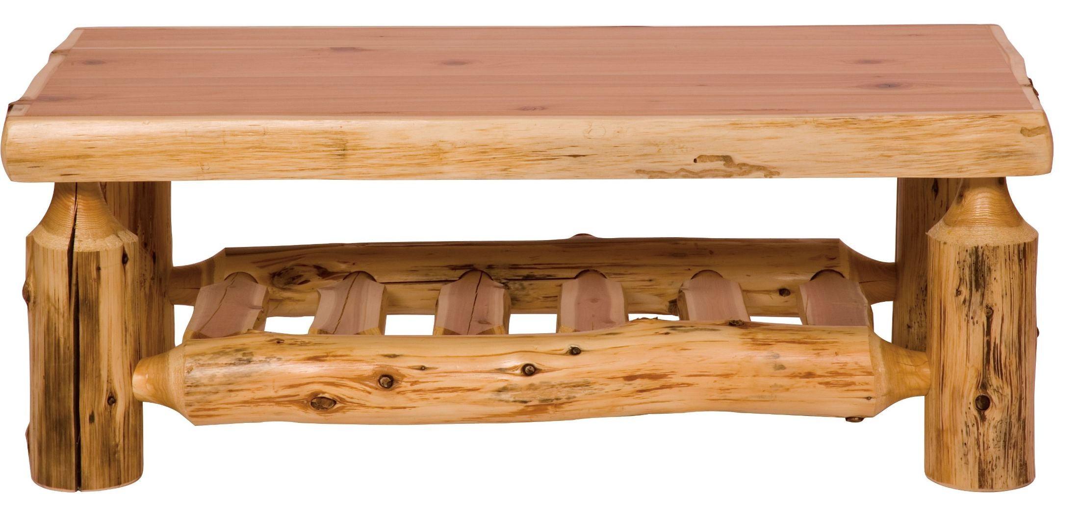 Cedar Open Standard Coffee Table From Fireside Lodge 14090 Coleman Furniture