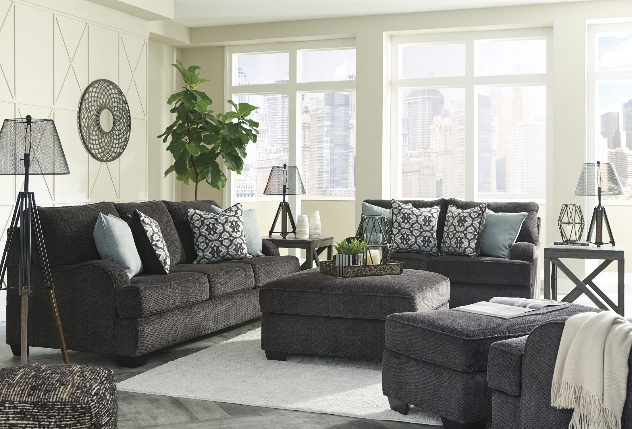 Charenton Charcoal Living Room Set From Ashley Coleman