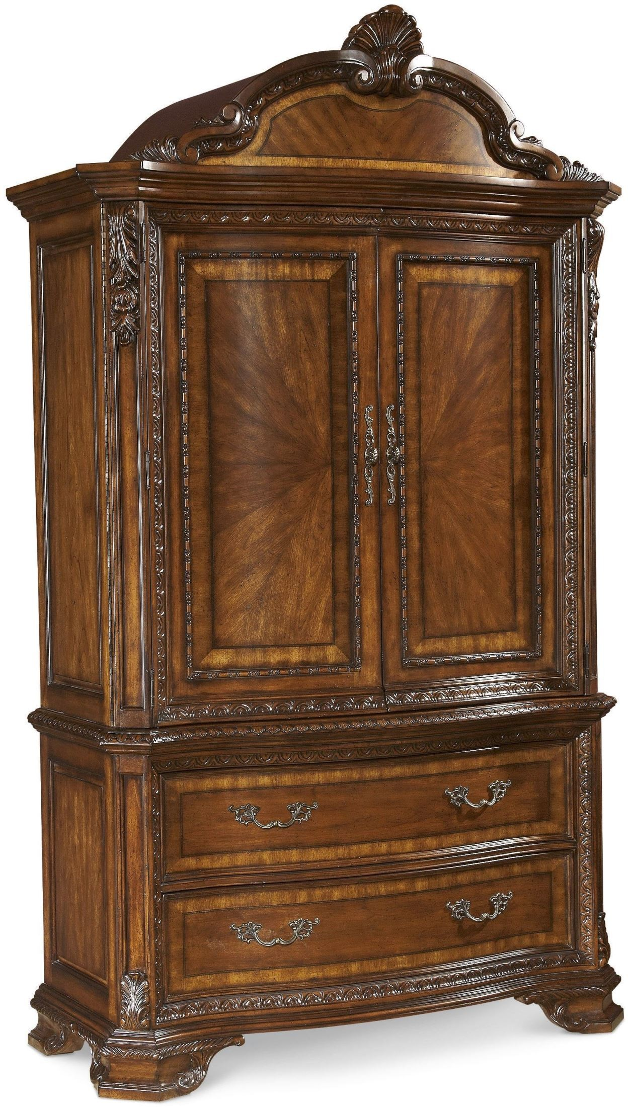 Old world armoire from art 143160 2606 coleman furniture for Furniture world