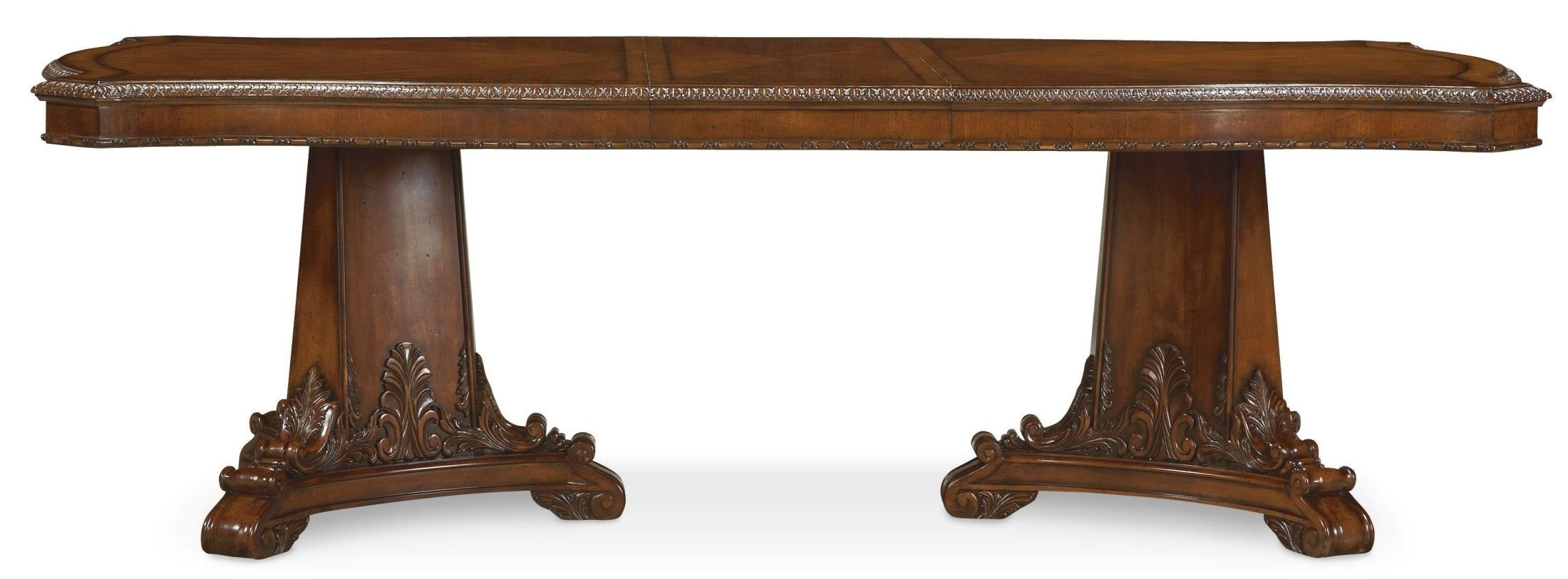 Old World Double Pedestal Extendable Dining Table From ART (143221 2606) |  Coleman Furniture
