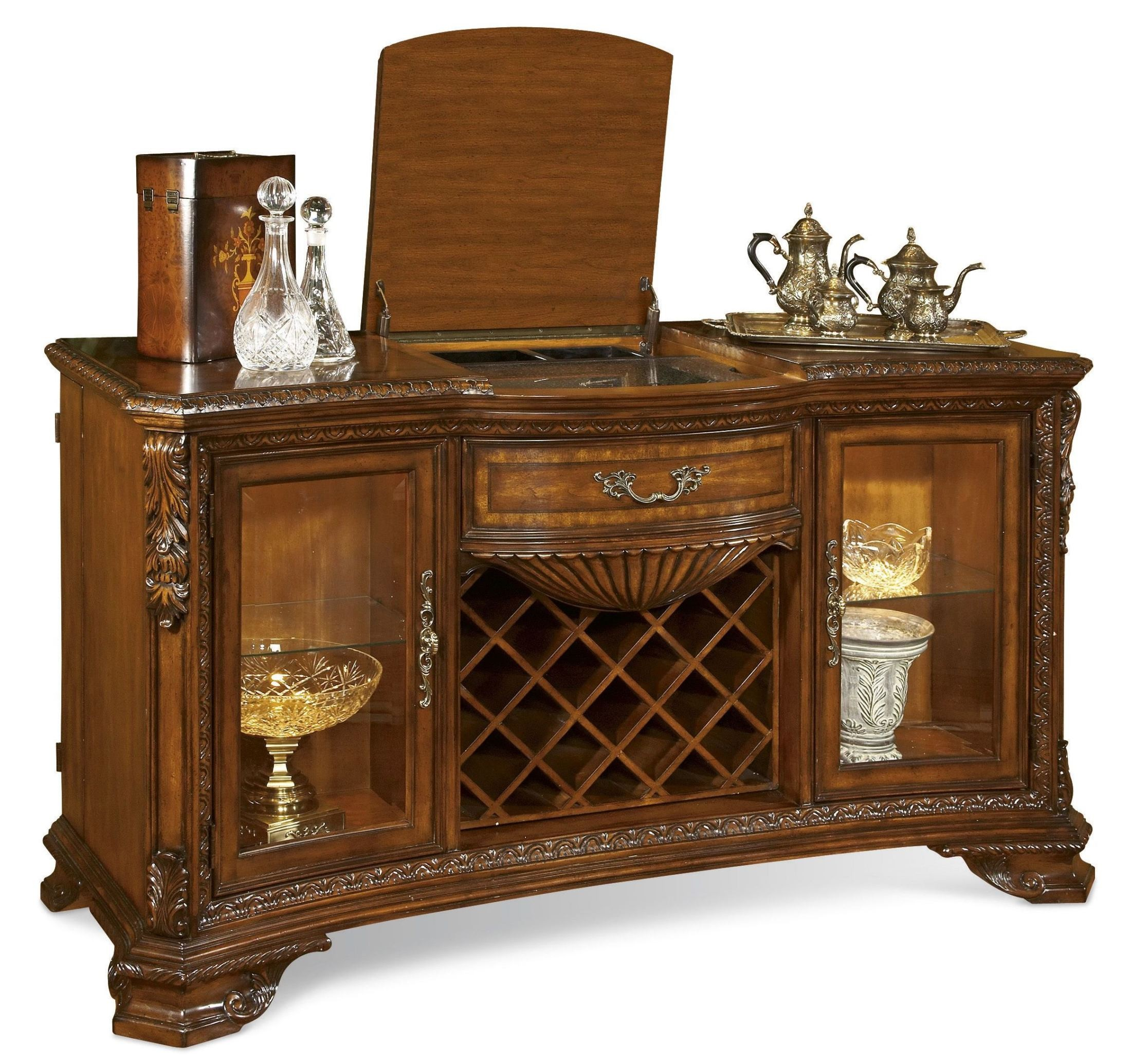 Old World Furnishings: Old World Extendable Dining Room Set From ART (143220-2606