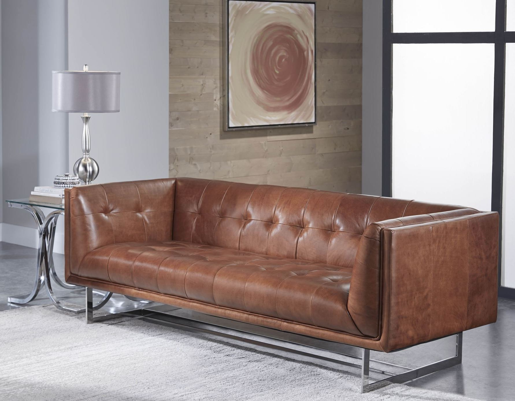 teague cognac leather sofa from lazzaro wh 1440 30 9027 coleman furniture. Black Bedroom Furniture Sets. Home Design Ideas