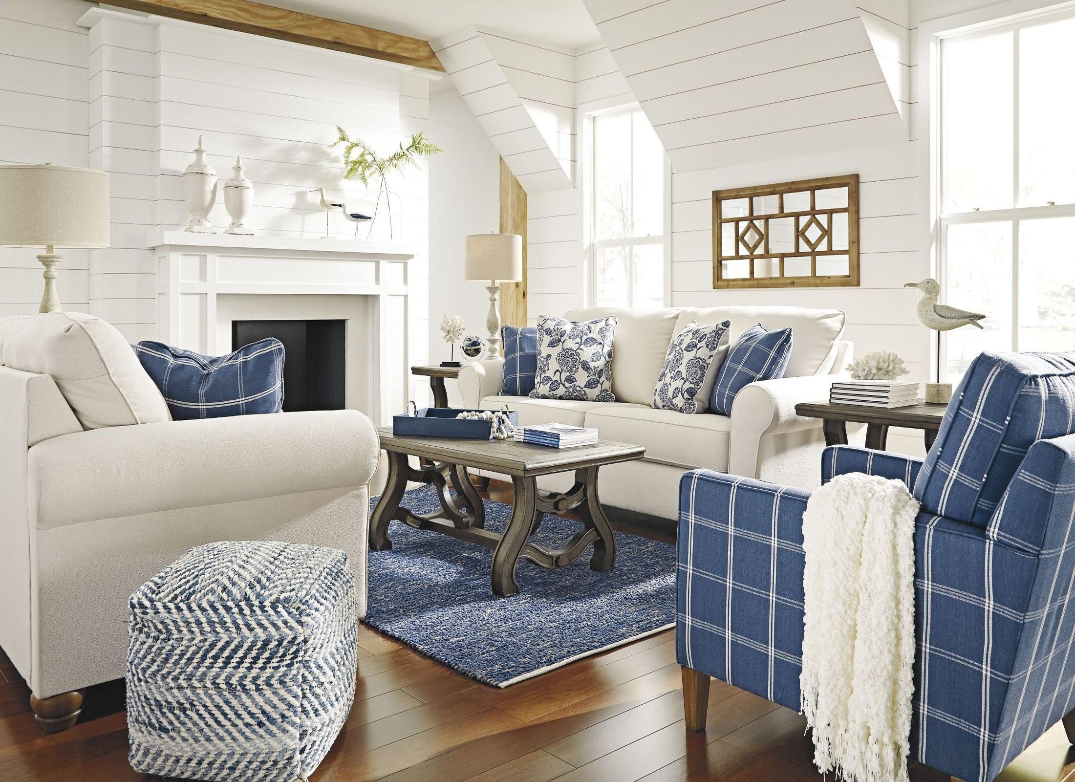 Adderbury Sky Living Room Set from Ashley   Coleman Furniture