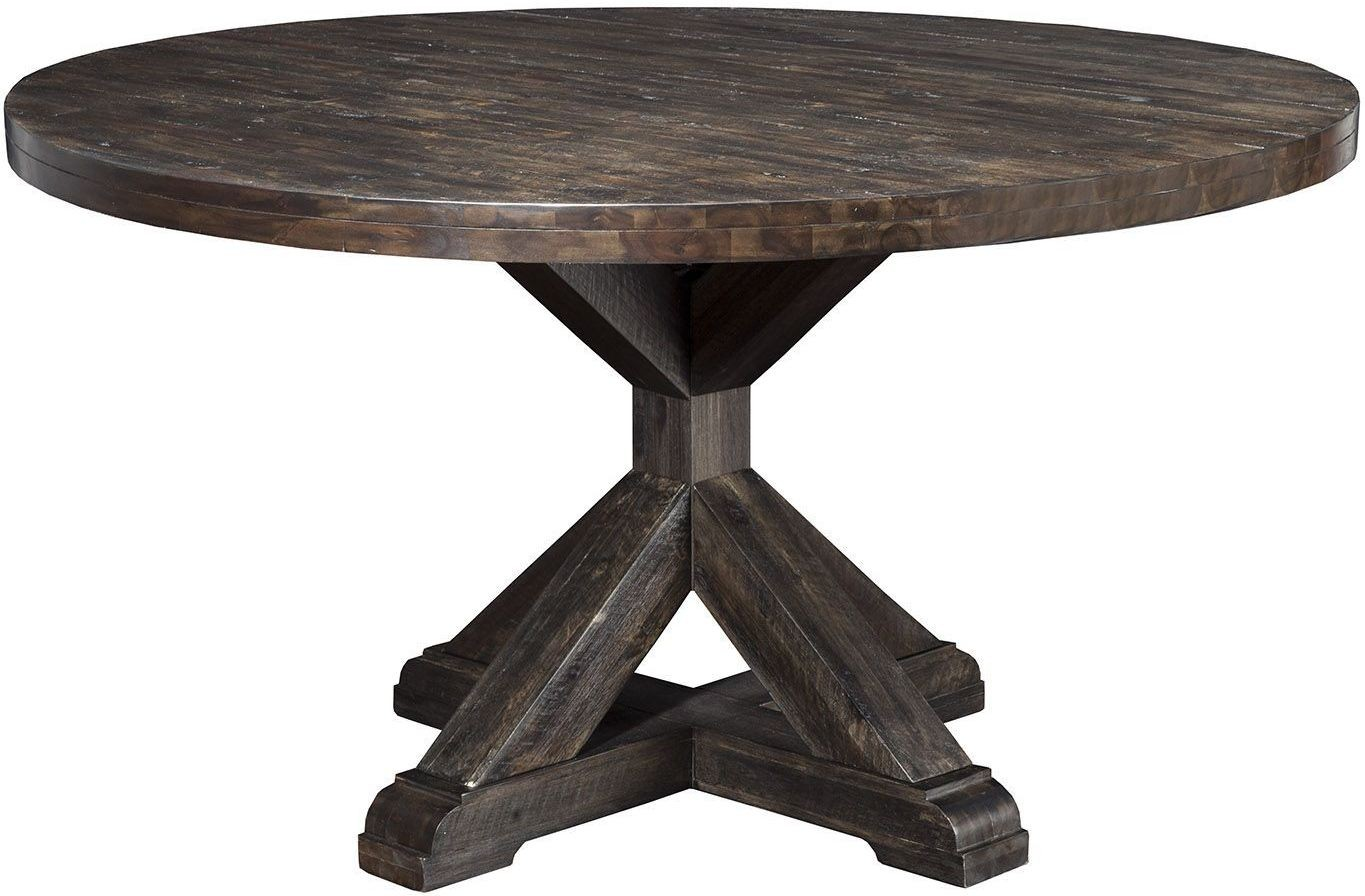 Newberry grey round dining table from alpine coleman for Table 6 of gstr 1