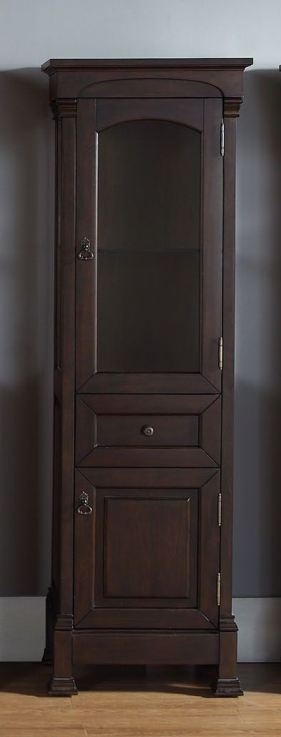 Brookfield linen mahogany cabinet from james martin 147 - Bathroom vanities nebraska furniture mart ...