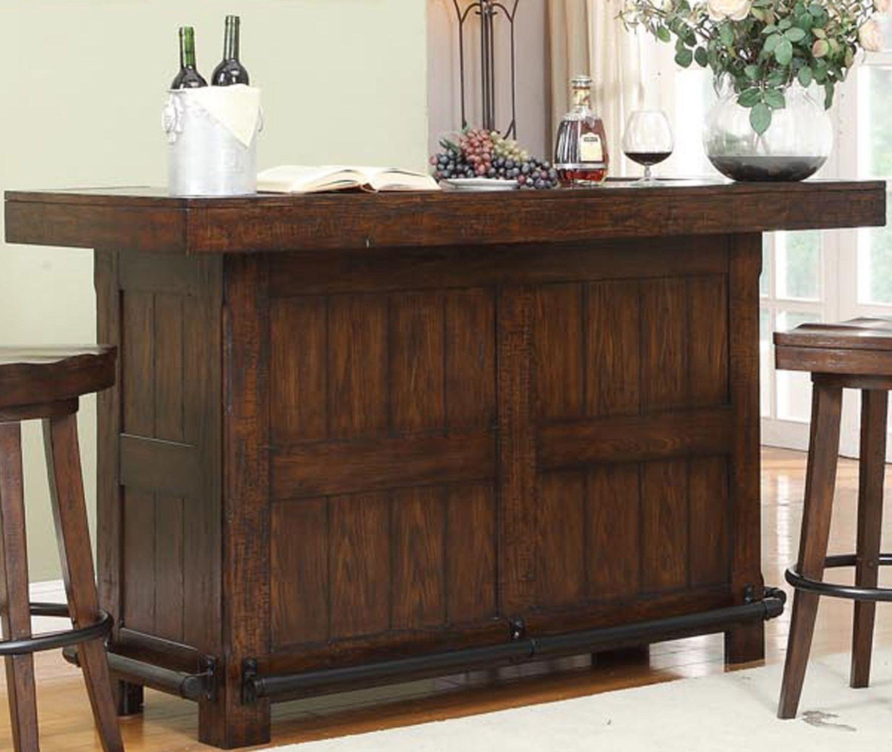 Gettysburg Distressed Chestnut Oak Bar From Eci Furniture Coleman Furniture