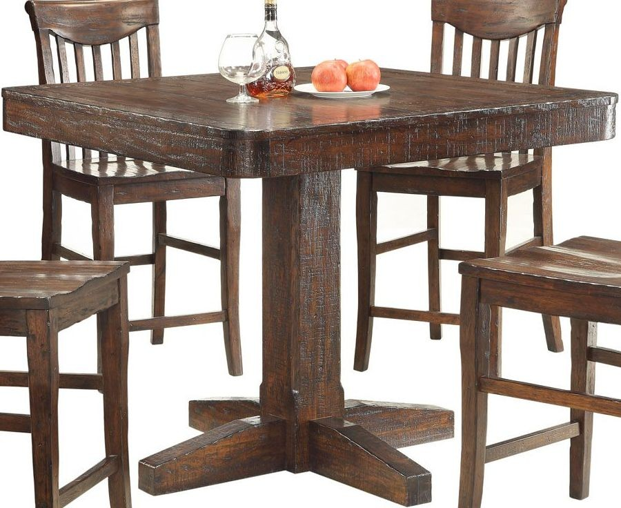 gettysburg dark distressed counter height dining table